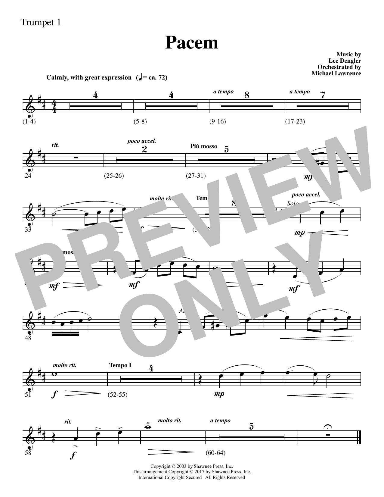 Pacem - Bb Trumpet 1 (Choir Instrumental Pak)