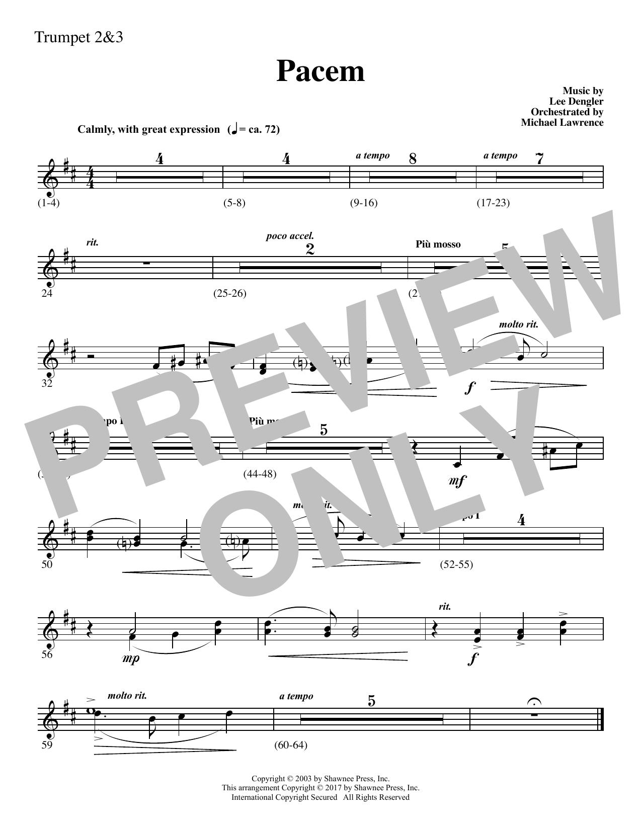 Pacem - Bb Trumpet 2,3 (Choir Instrumental Pak)