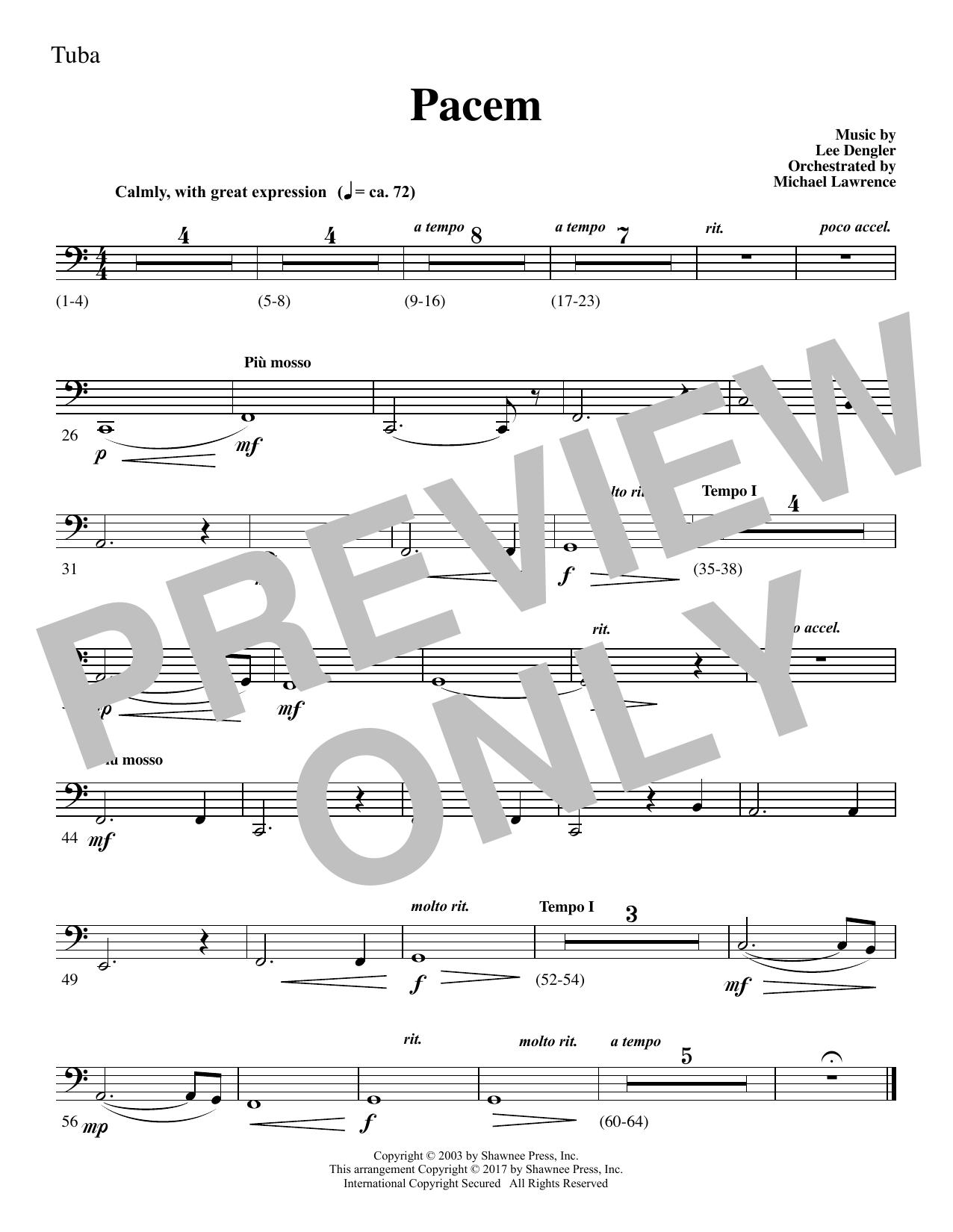 Pacem - Tuba (Choir Instrumental Pak)