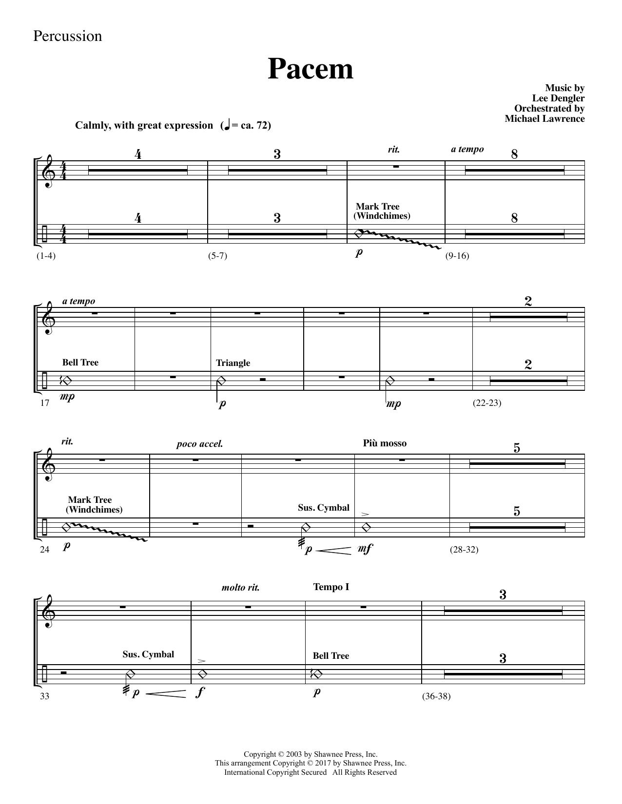 Pacem - Percussion (Choir Instrumental Pak)