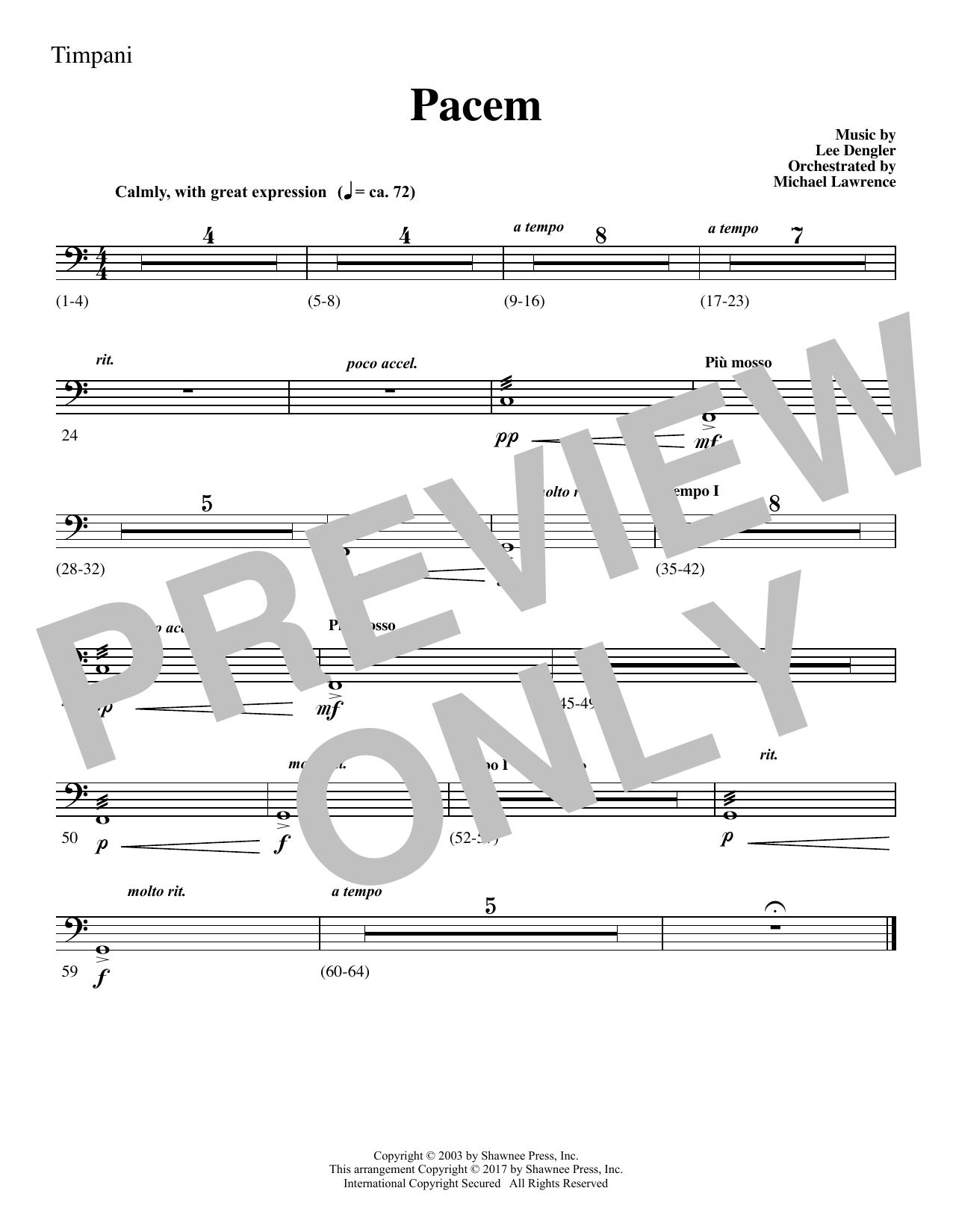 Pacem - Timpani (Choir Instrumental Pak)