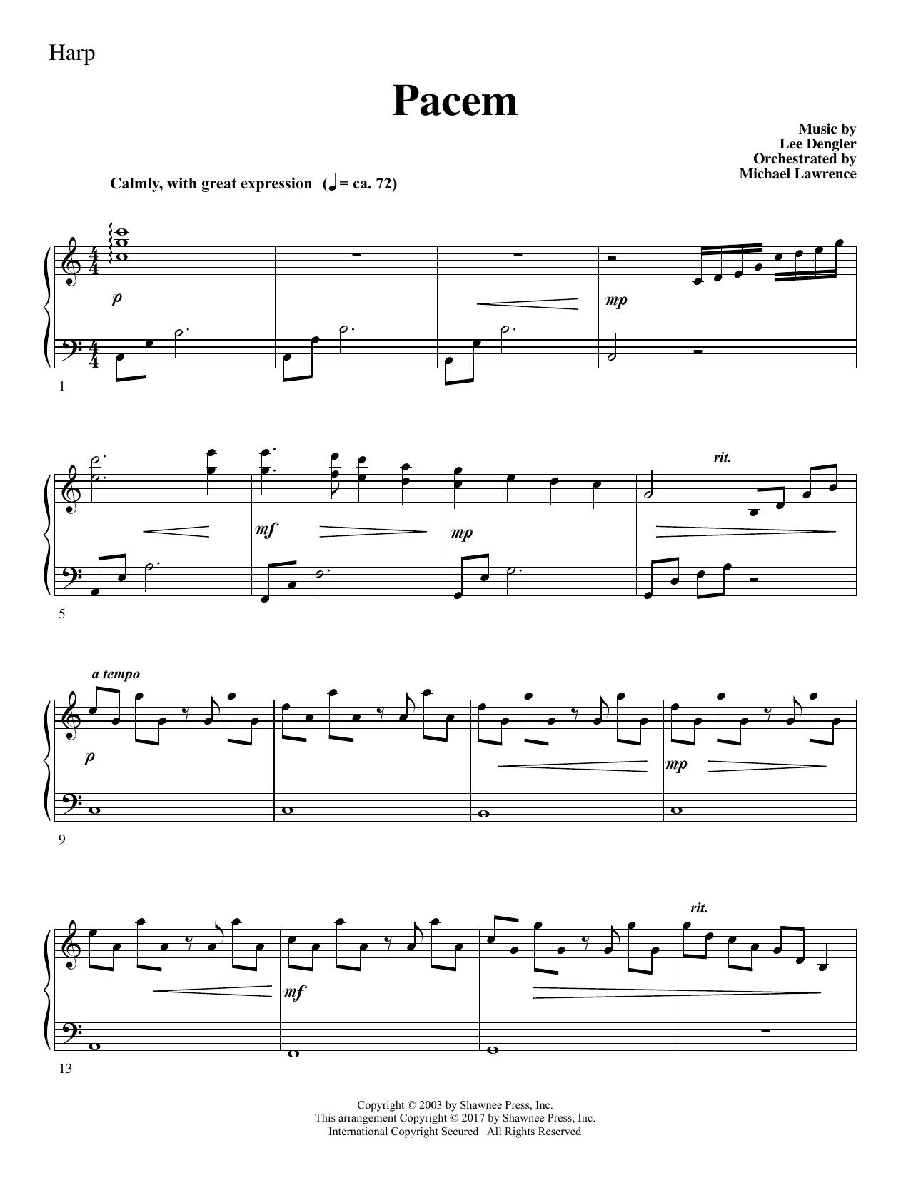 Pacem - Harp (Choir Instrumental Pak)