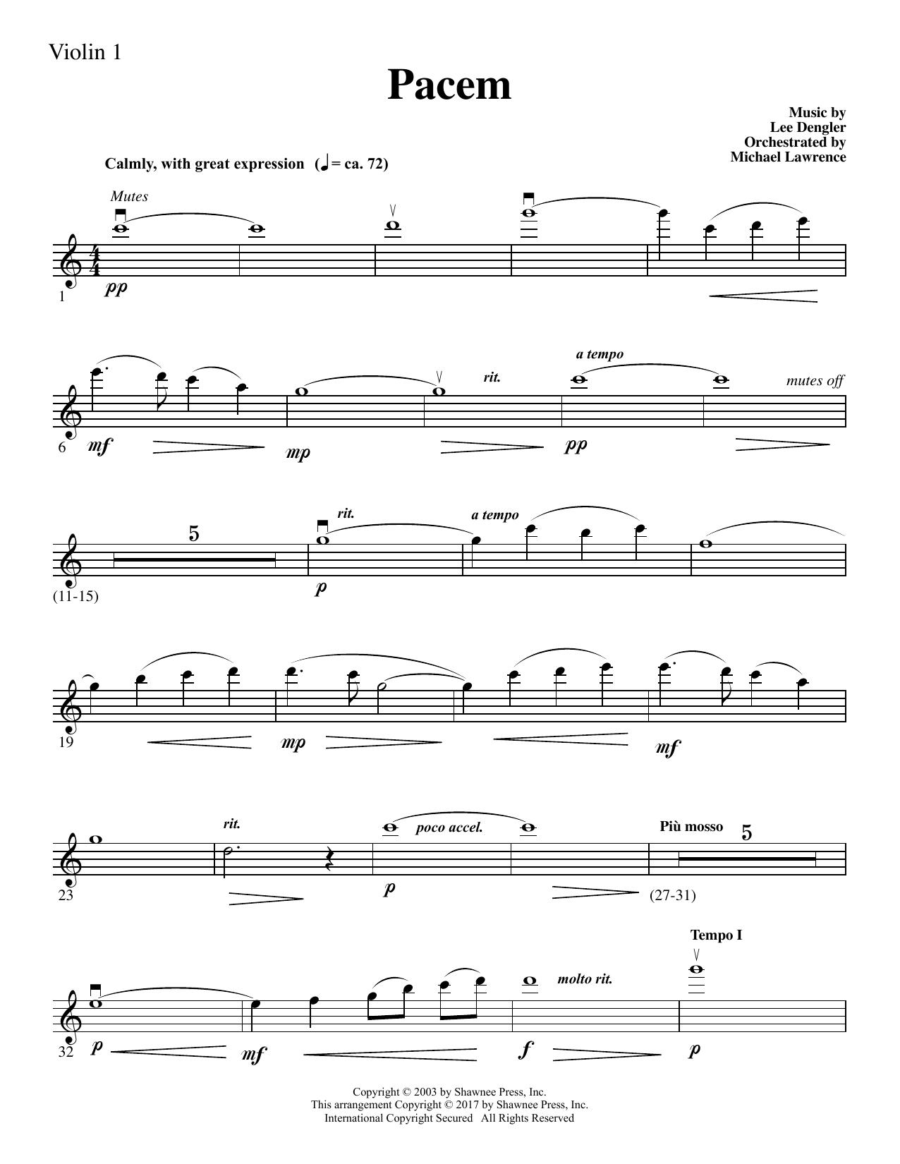 Pacem - Violin 1 (Choir Instrumental Pak)