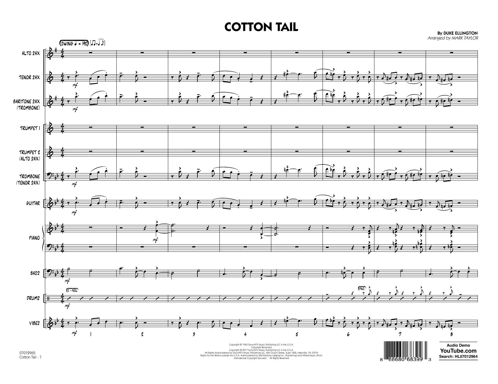 Cotton Tail - Full Score (Jazz Ensemble)