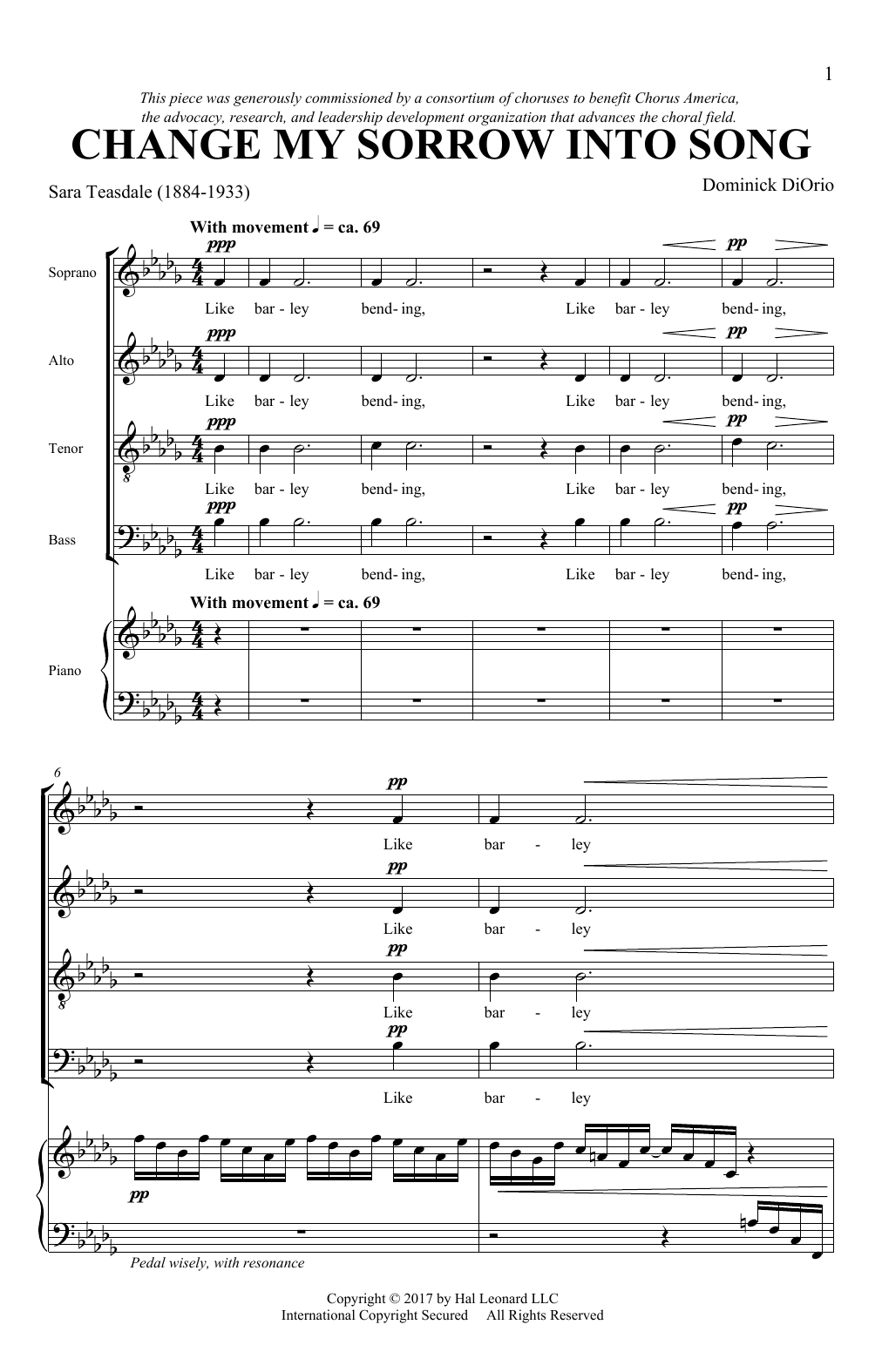 Change My Sorrow Into Song Sheet Music