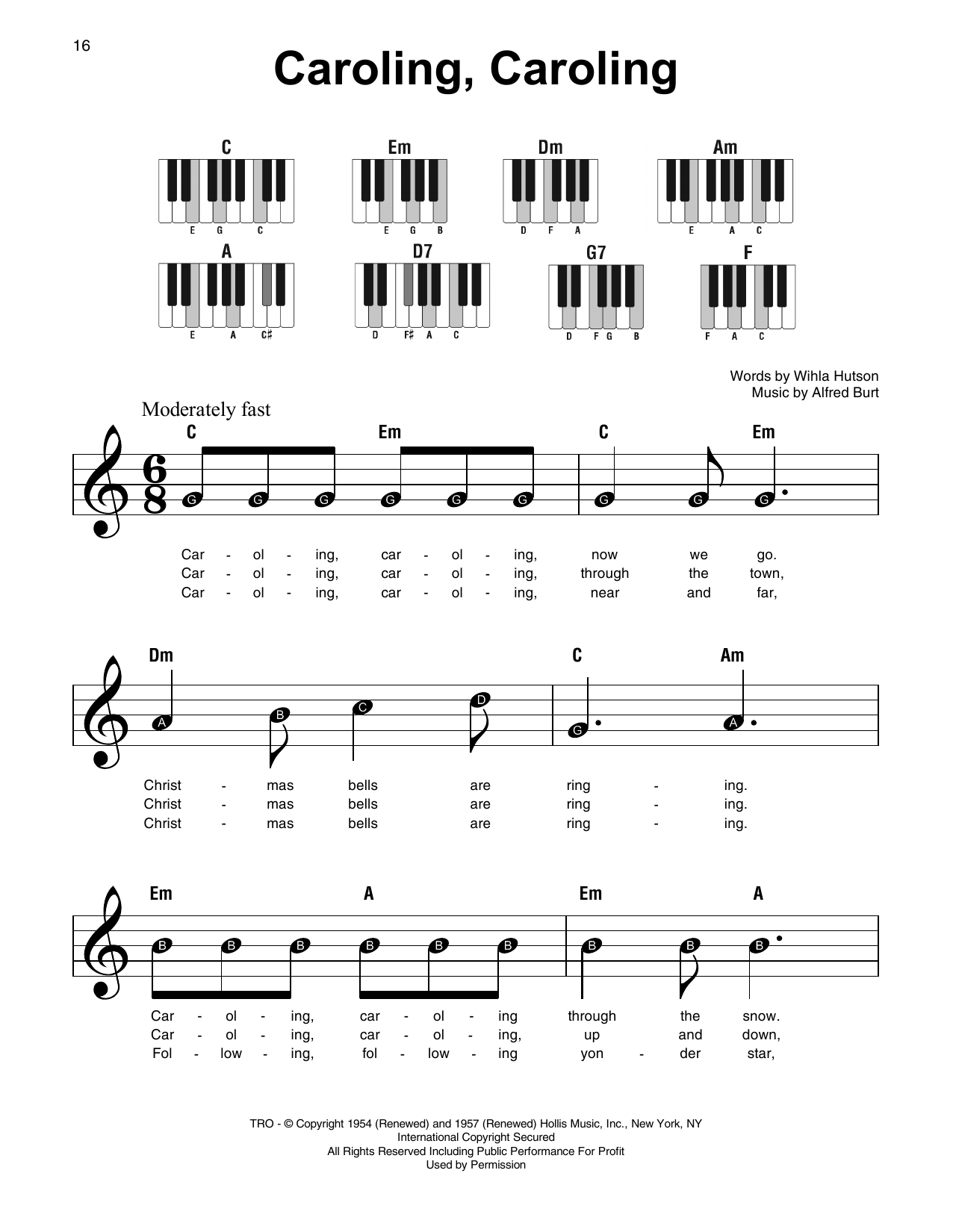 Caroling, Caroling (Super Easy Piano)