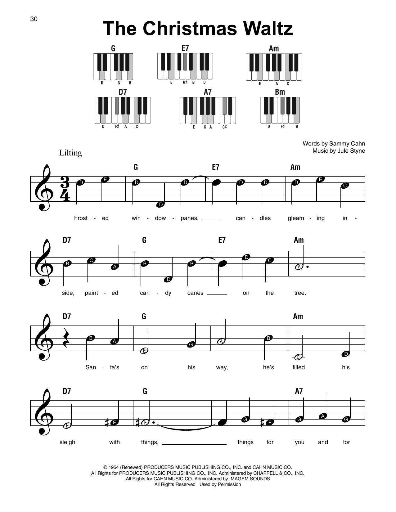 The Christmas Waltz (Super Easy Piano)