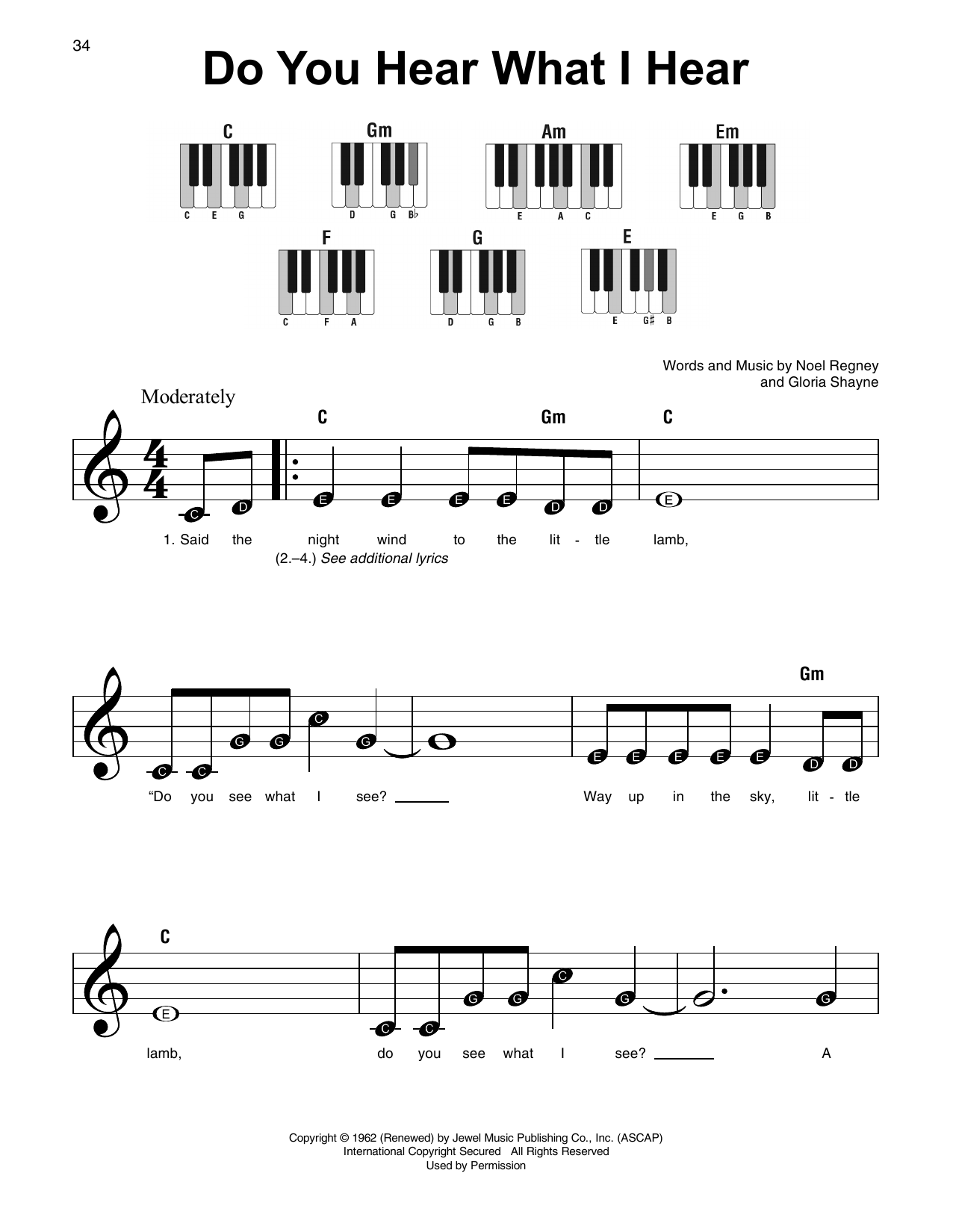 Christmas Songs - Super Easy Songbook Sheet Music by Various - Hal ...
