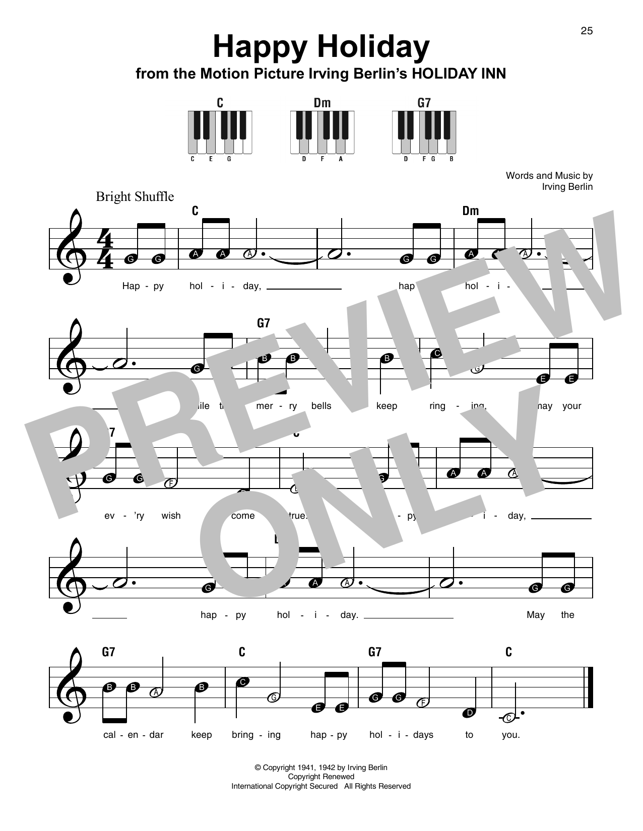 Happy Holiday (Super Easy Piano)