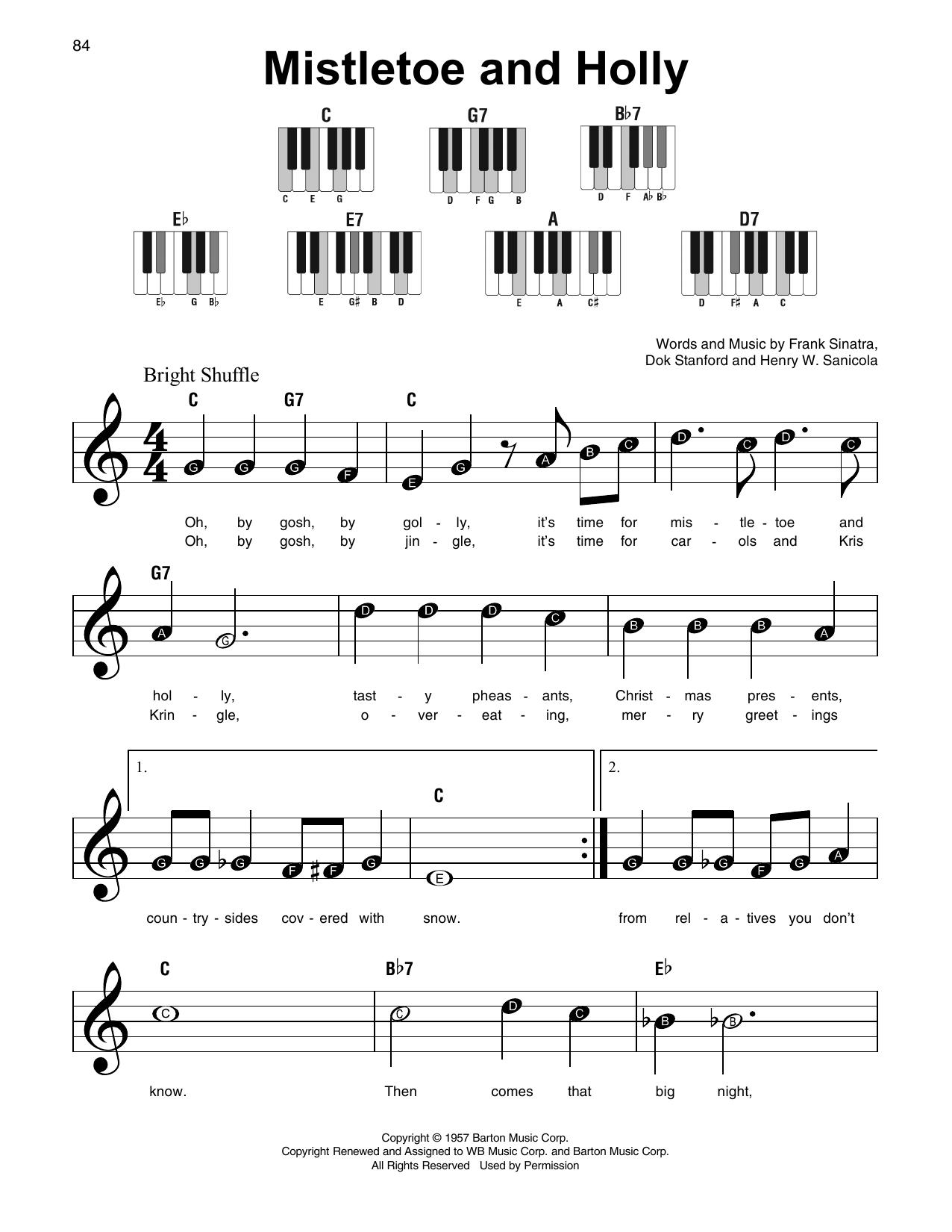 Mistletoe And Holly Sheet Music
