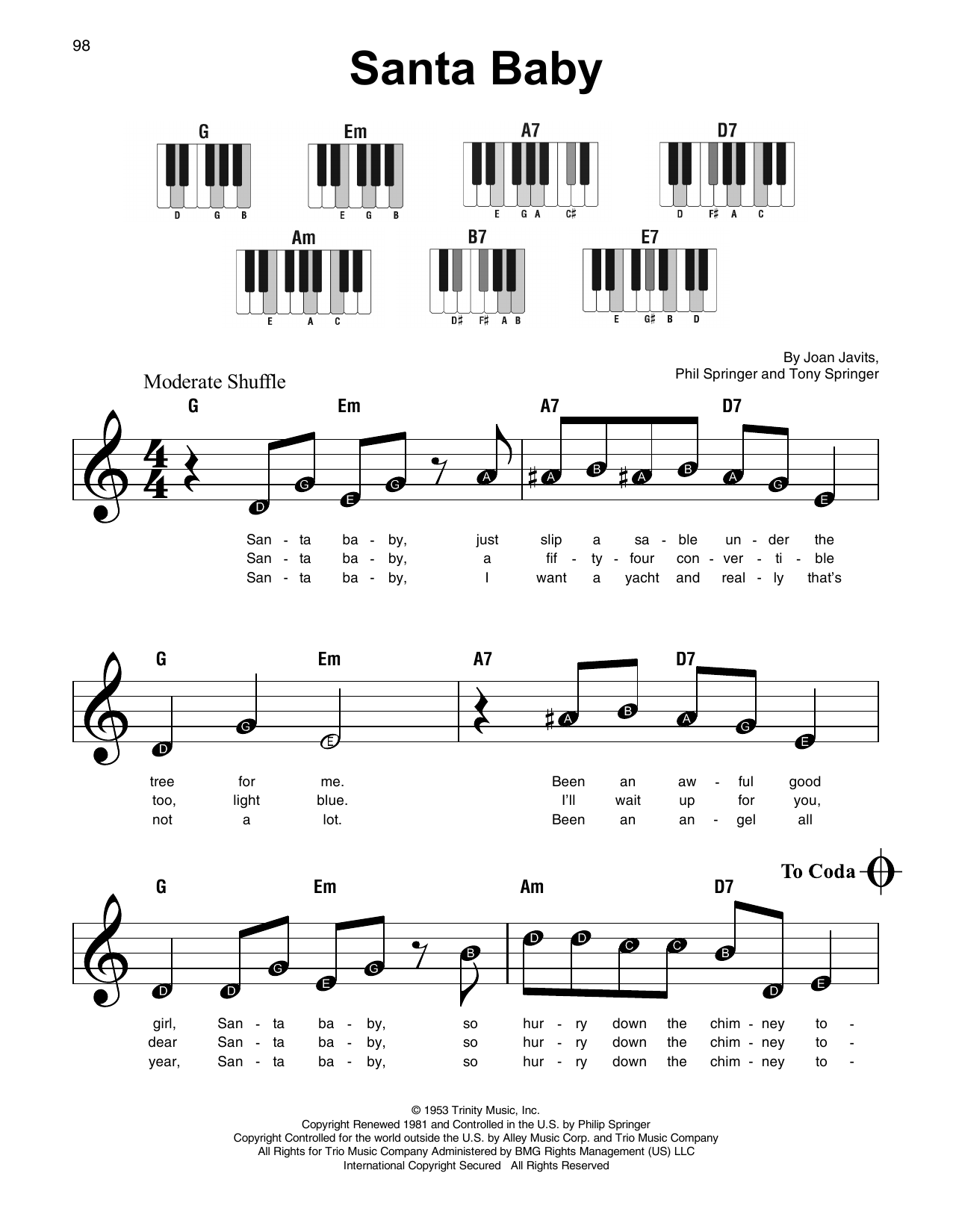 Santa Baby (Super Easy Piano)