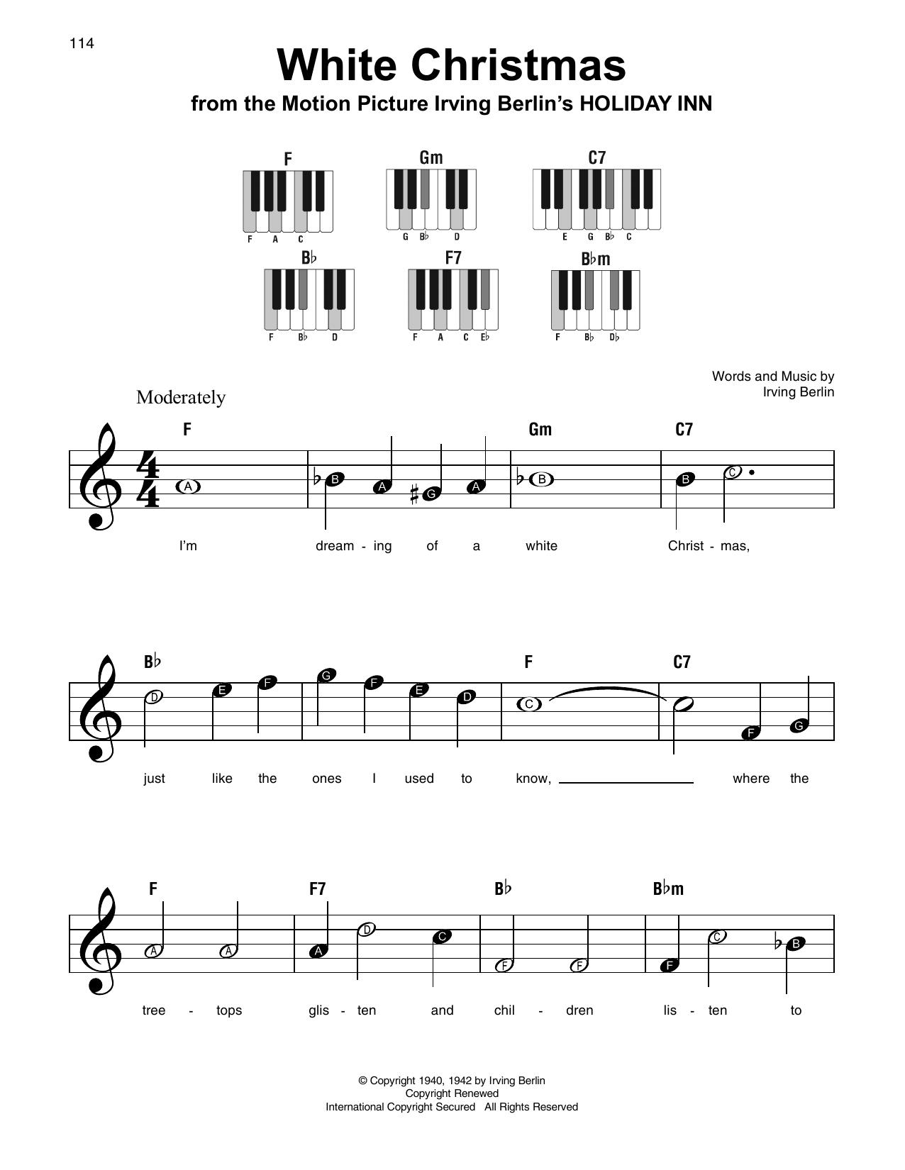 White Christmas (Super Easy Piano)