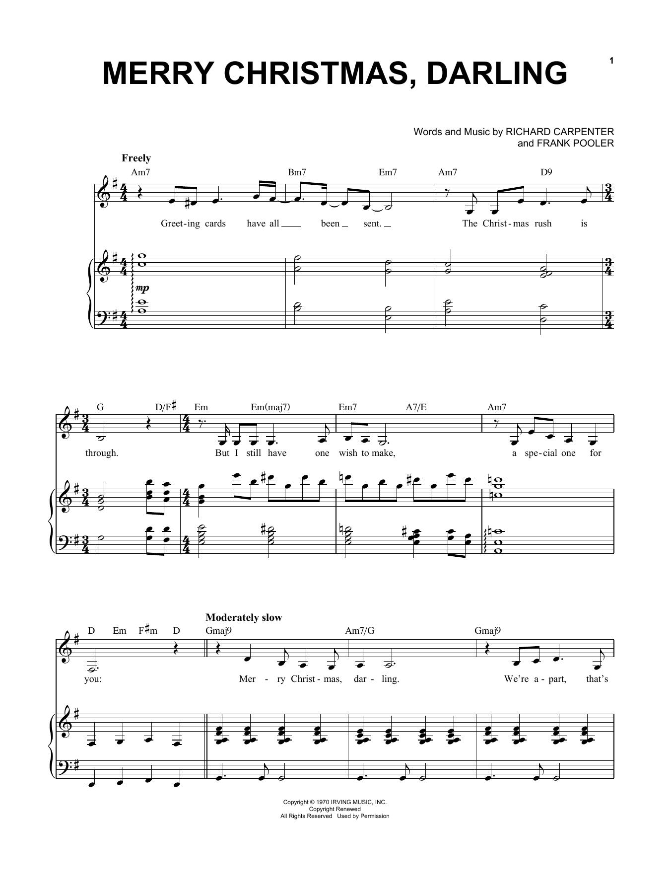 Merry Christmas, Darling (Piano & Vocal)