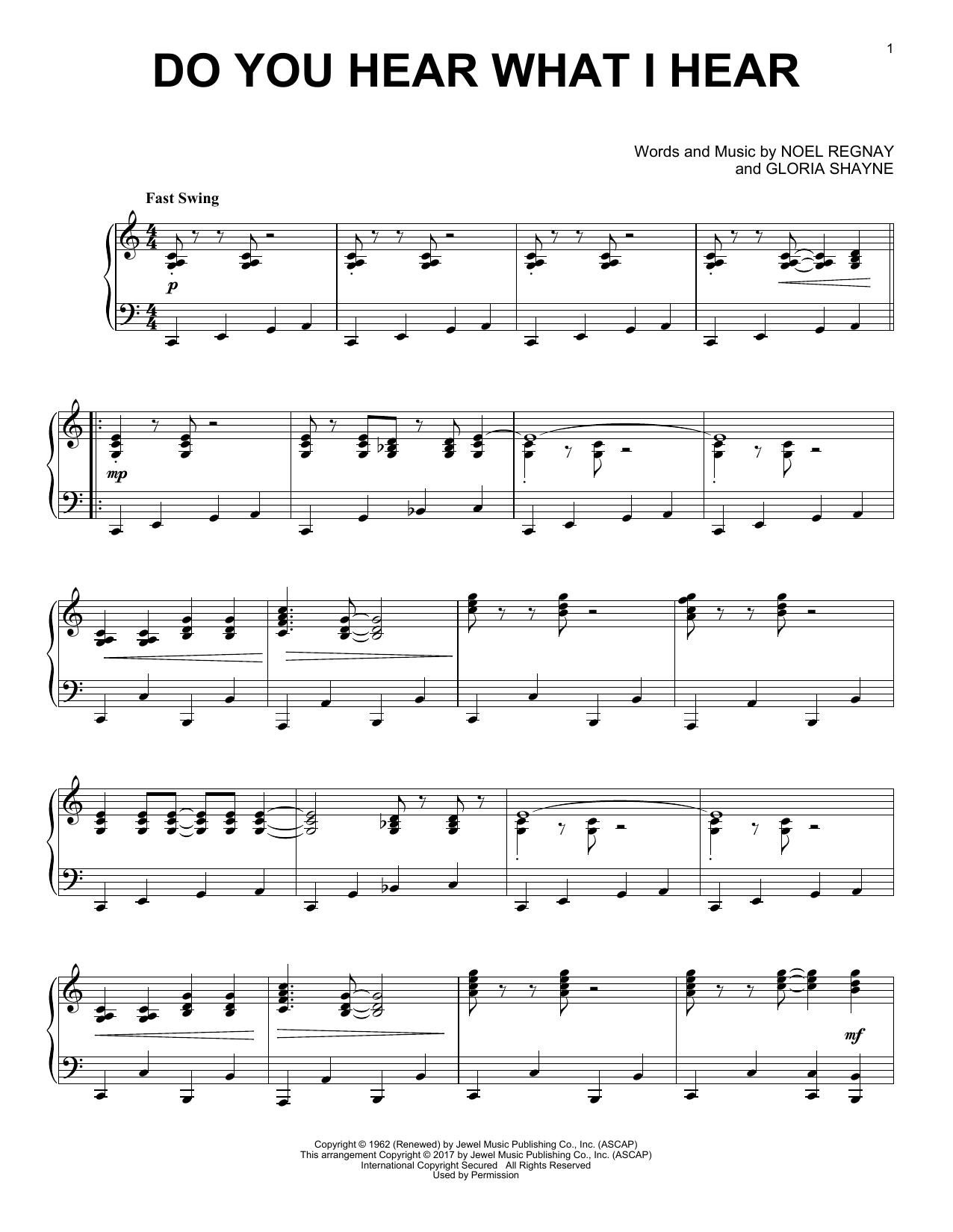 Do You Hear What I Hear [Jazz version] (Piano Solo)