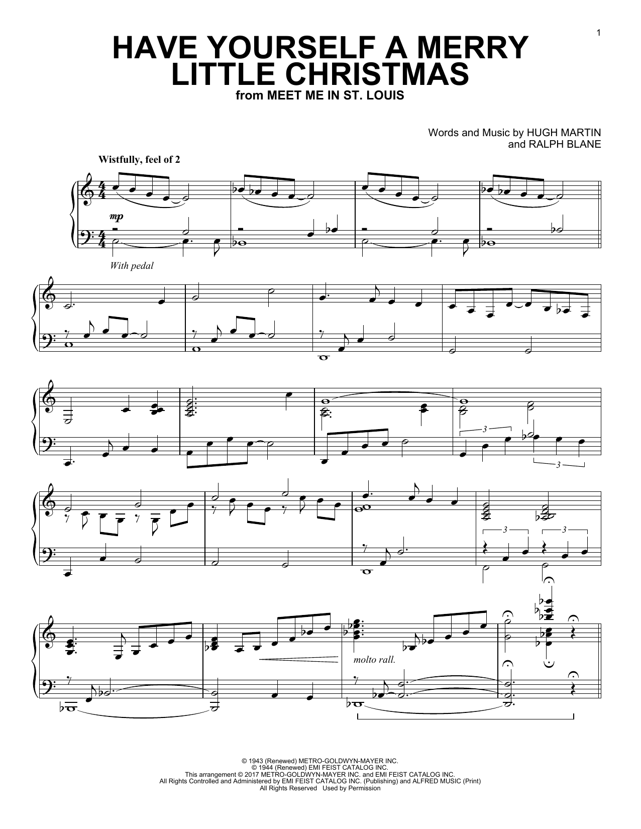 Have Yourself A Merry Little Christmas | Sheet Music Direct