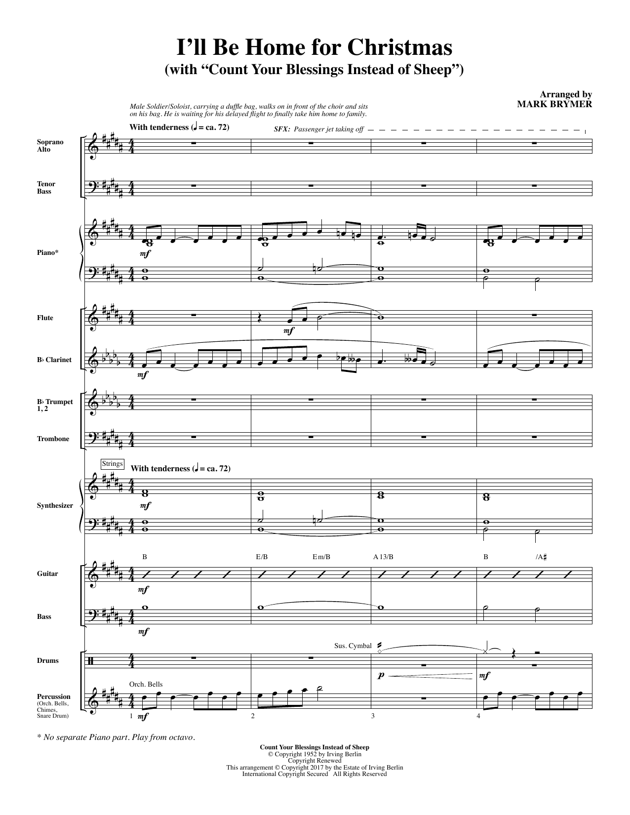I\'ll Be Home for Christmas - Full Score - Choral Music Download