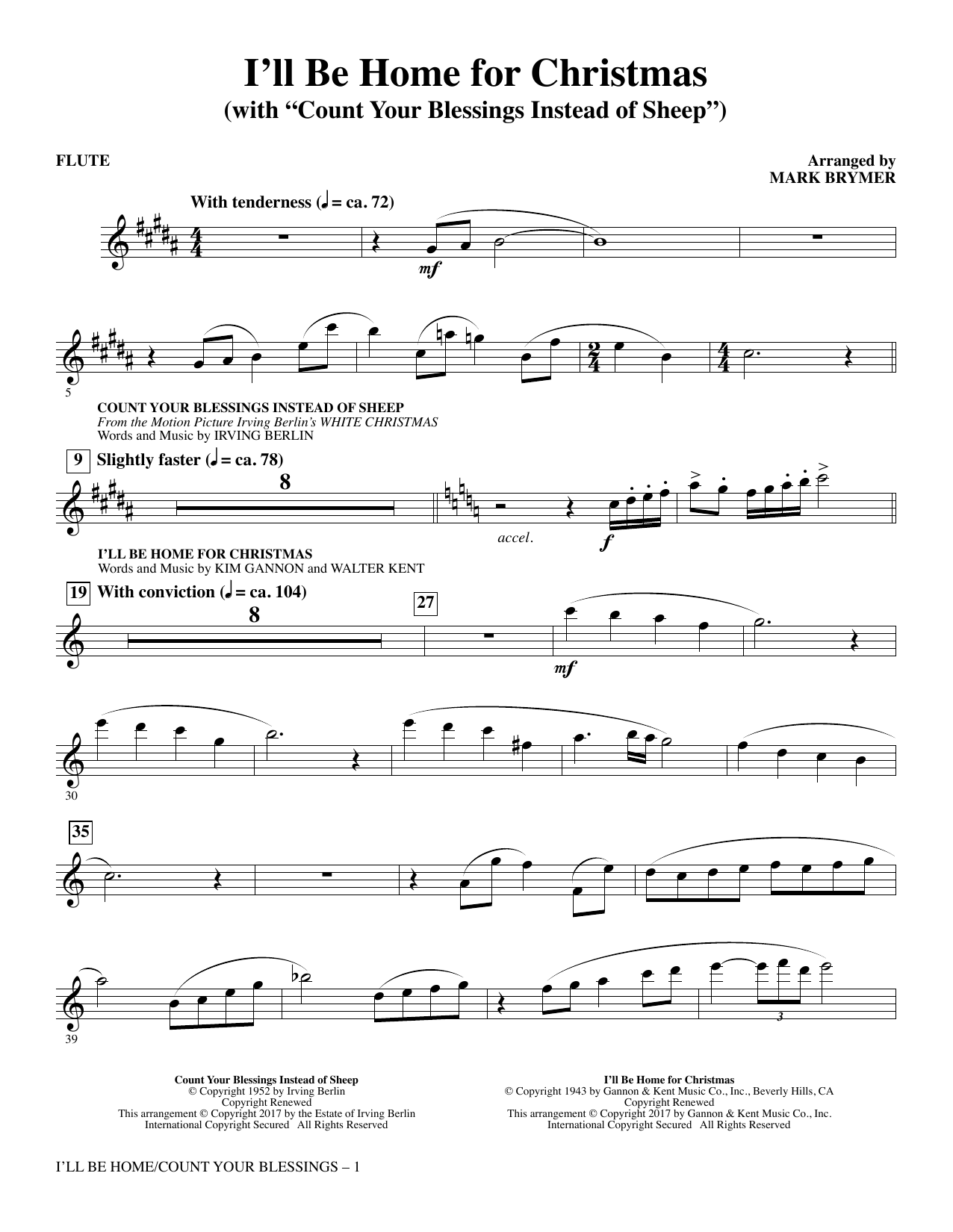 I\'ll Be Home for Christmas - Flute - Choral Music Download
