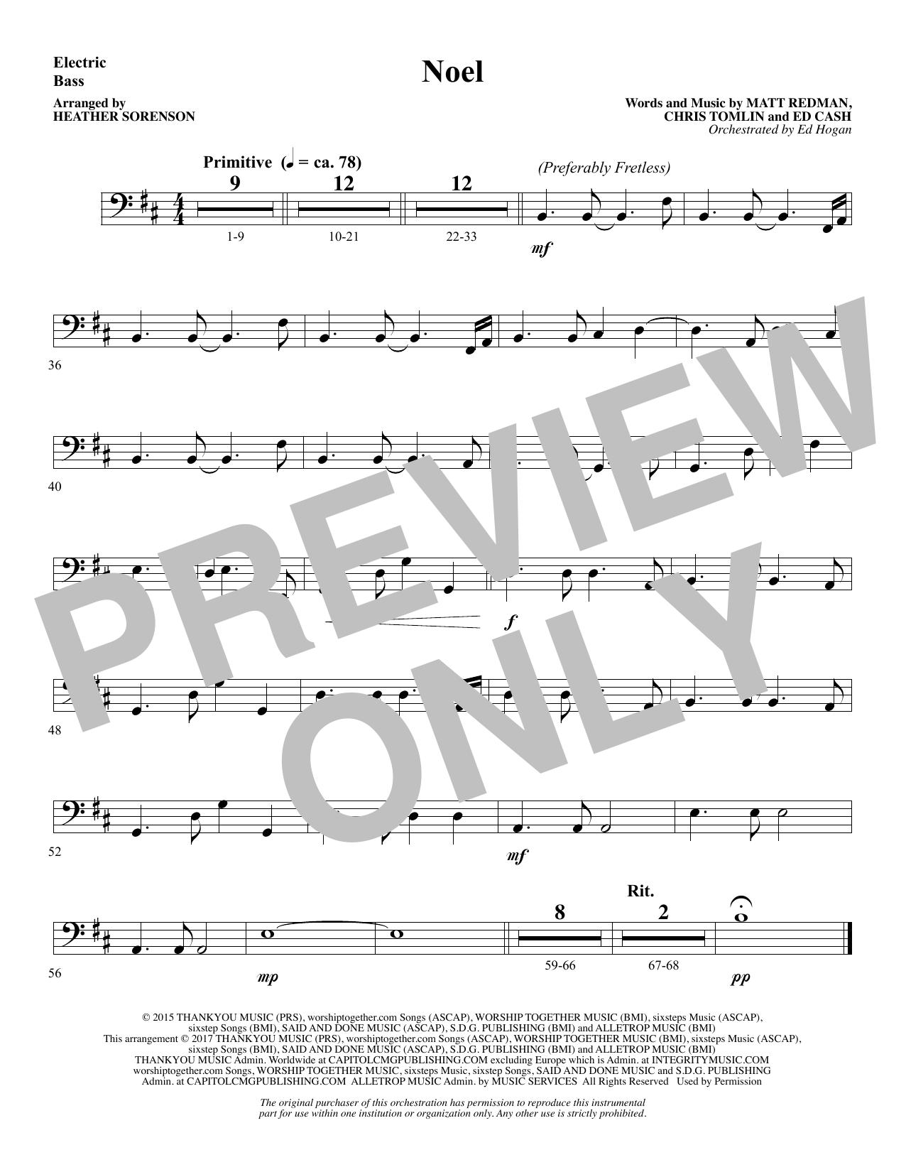 page one of Noel (feat. Lauren Daigle) (arr. Heather Sorenson) - BassASALTTEXT