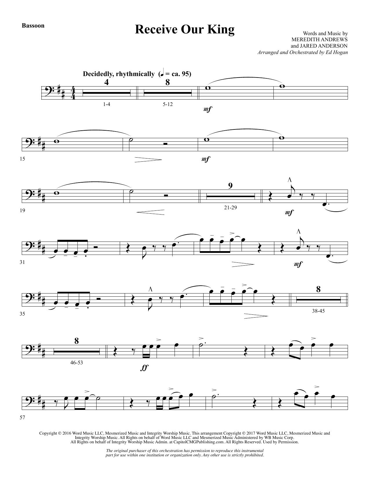 Receive Our King - Bassoon (Choir Instrumental Pak)