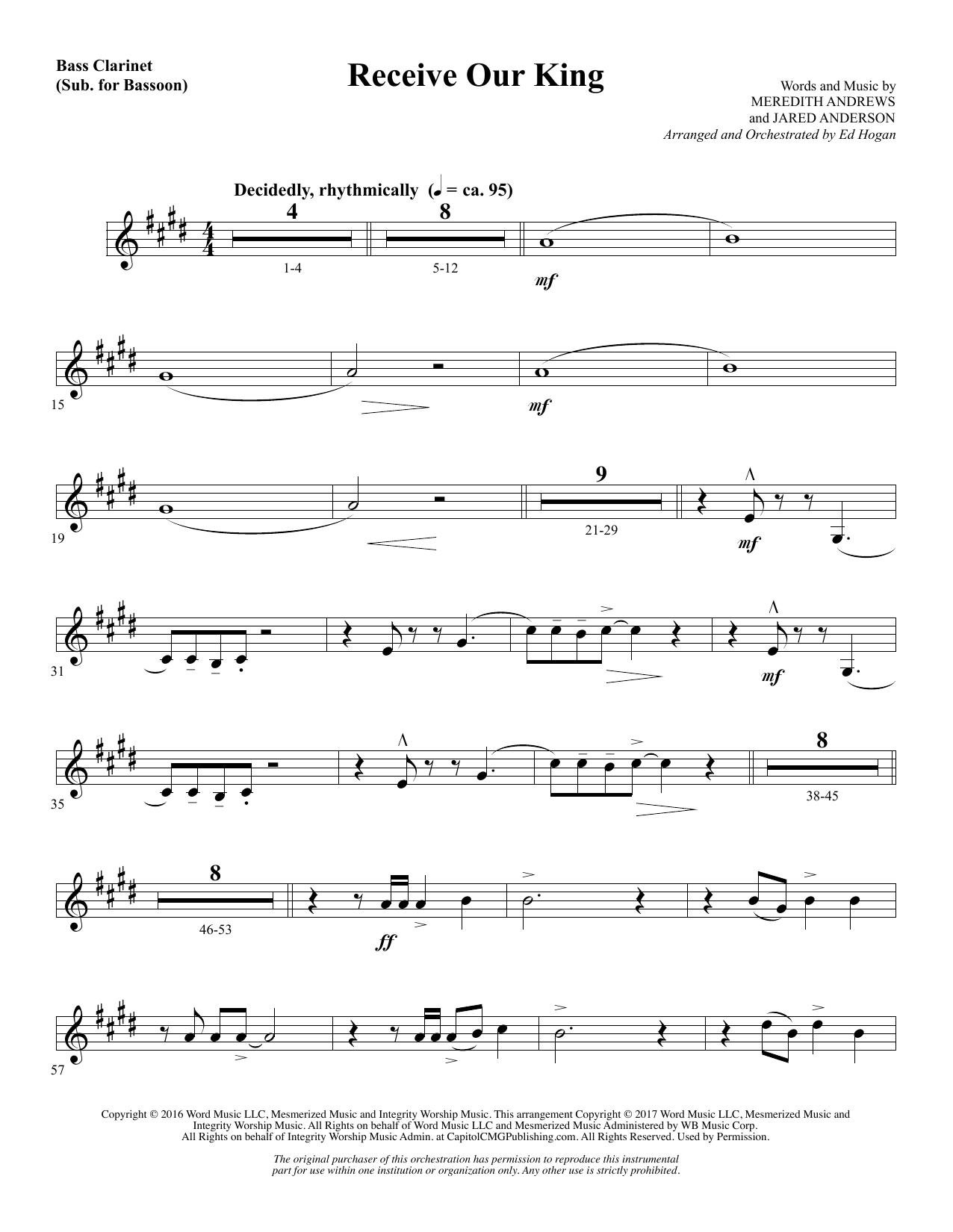 Receive Our King - Bass Clarinet (sub. Bassoon) (Choir Instrumental Pak)