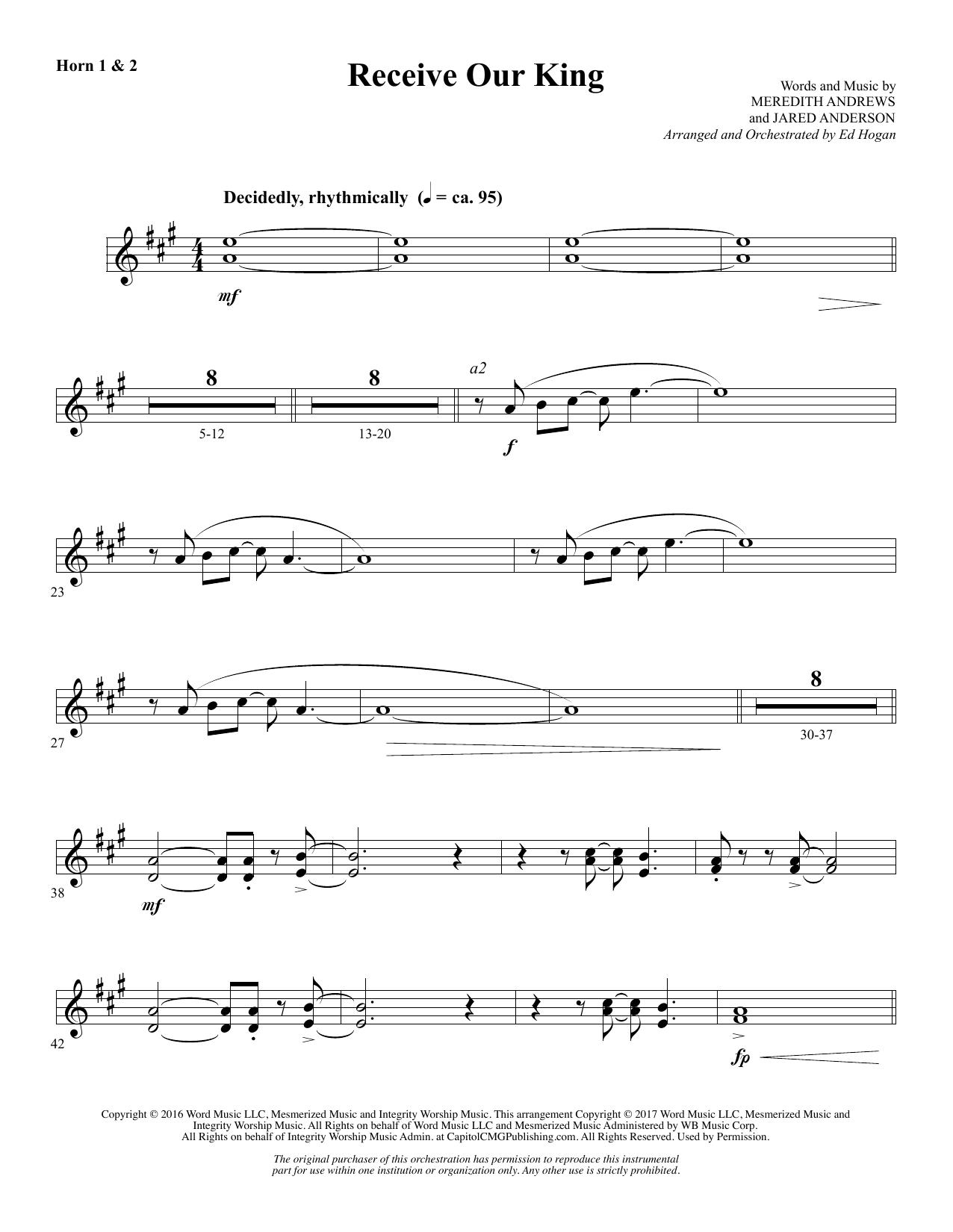 Receive Our King - F Horn 1 & 2 (Choir Instrumental Pak)