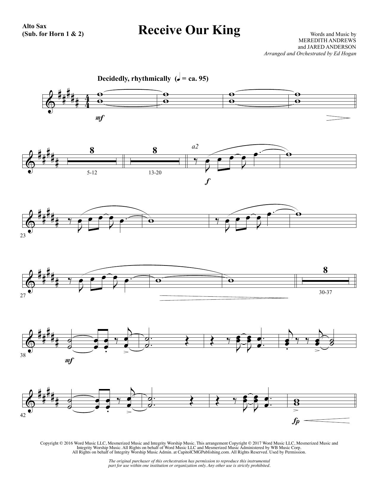Receive Our King - Alto Sax 1 & 2 (Sub. Horn) (Choir Instrumental Pak)