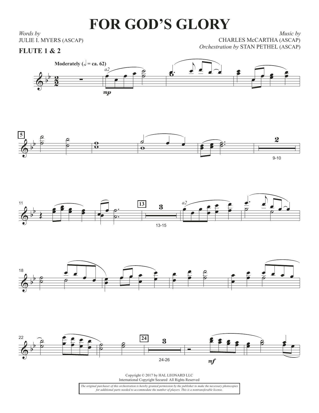 For God's Glory - Flute 1 & 2 (Choir Instrumental Pak)