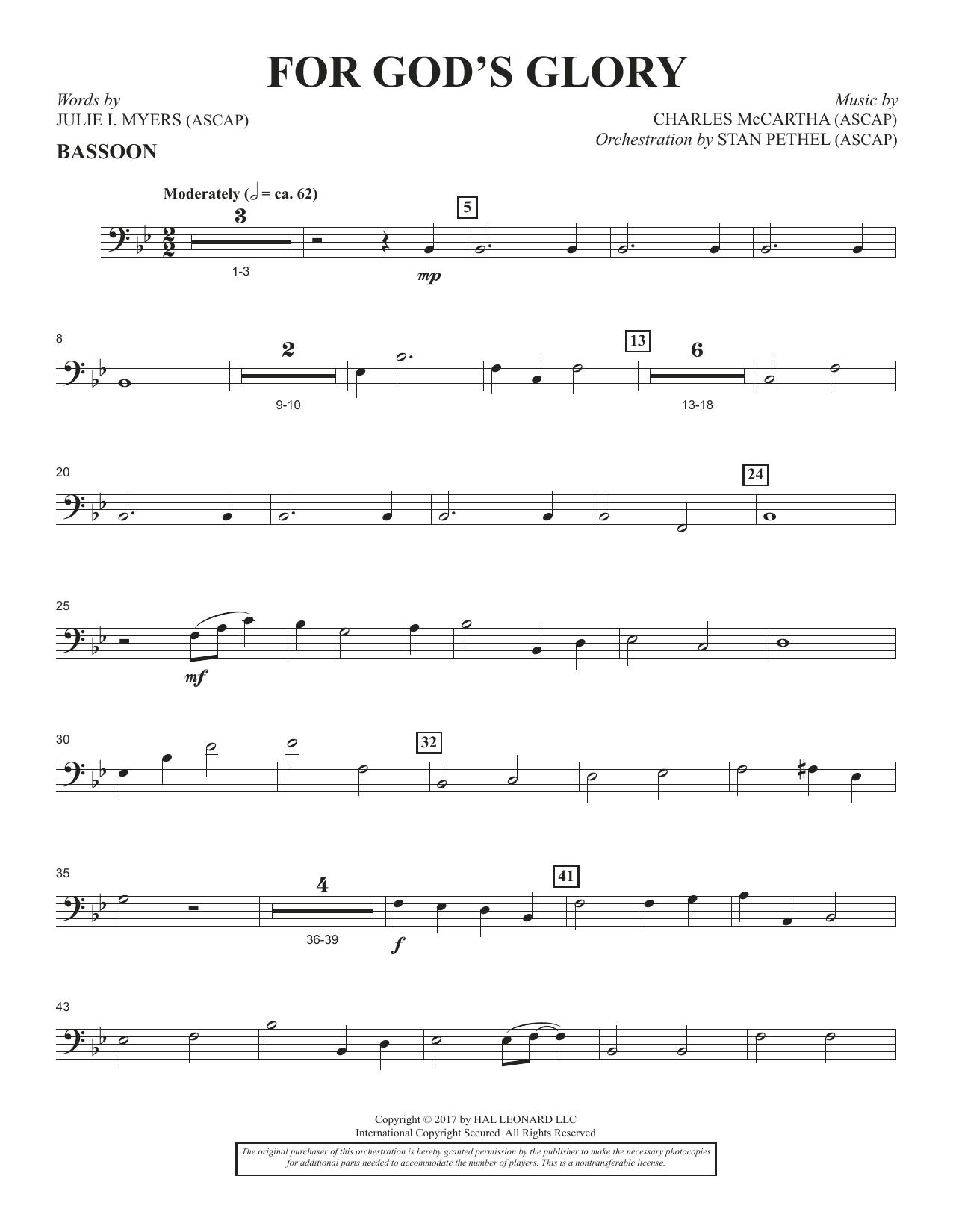 For God's Glory - Bassoon (Choir Instrumental Pak)