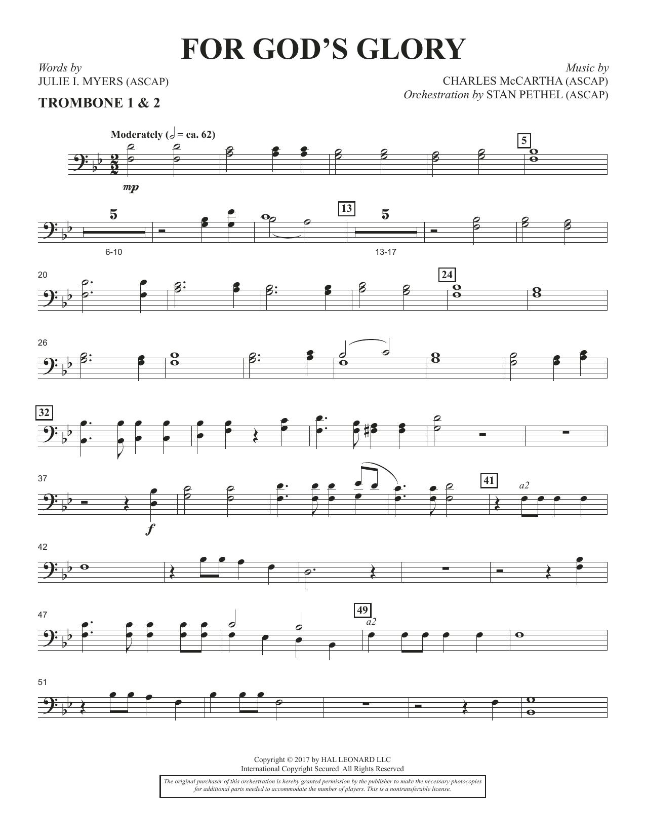 For God's Glory - Trombone 1 & 2 (Choir Instrumental Pak)