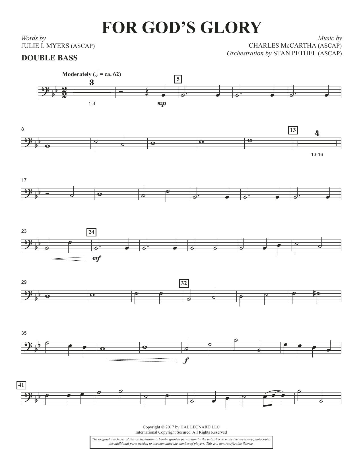 For God's Glory - Double Bass (Choir Instrumental Pak)