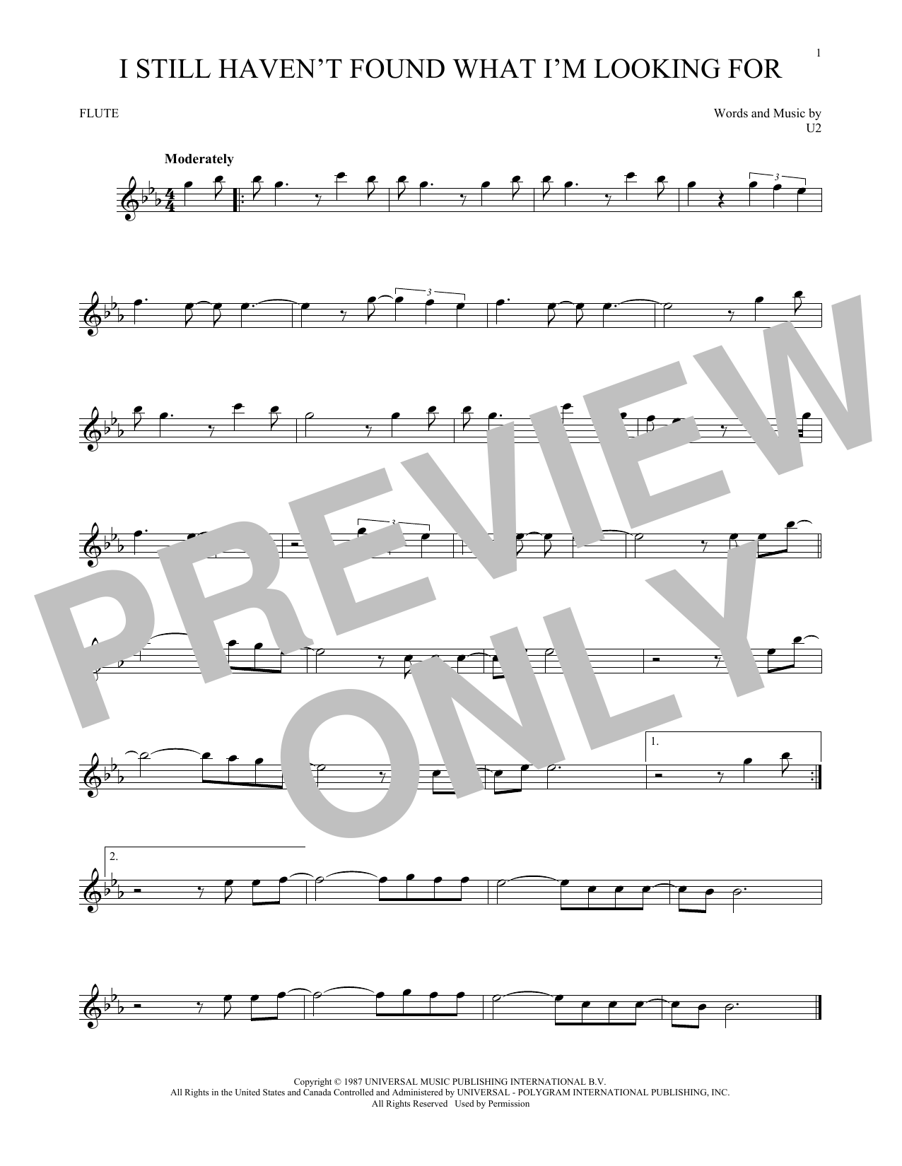 I Still Haven't Found What I'm Looking For (Flute Solo)