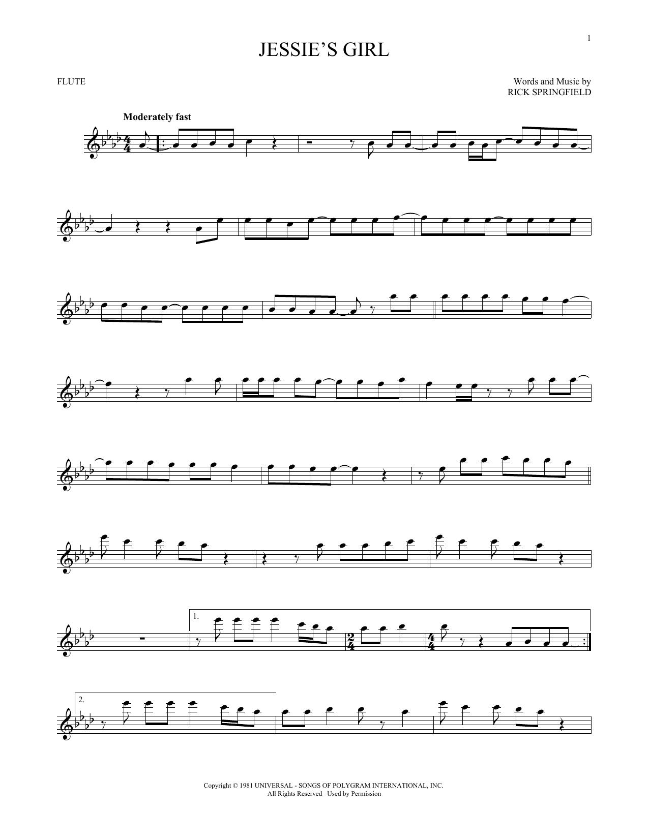 Jessie's Girl (Flute Solo)
