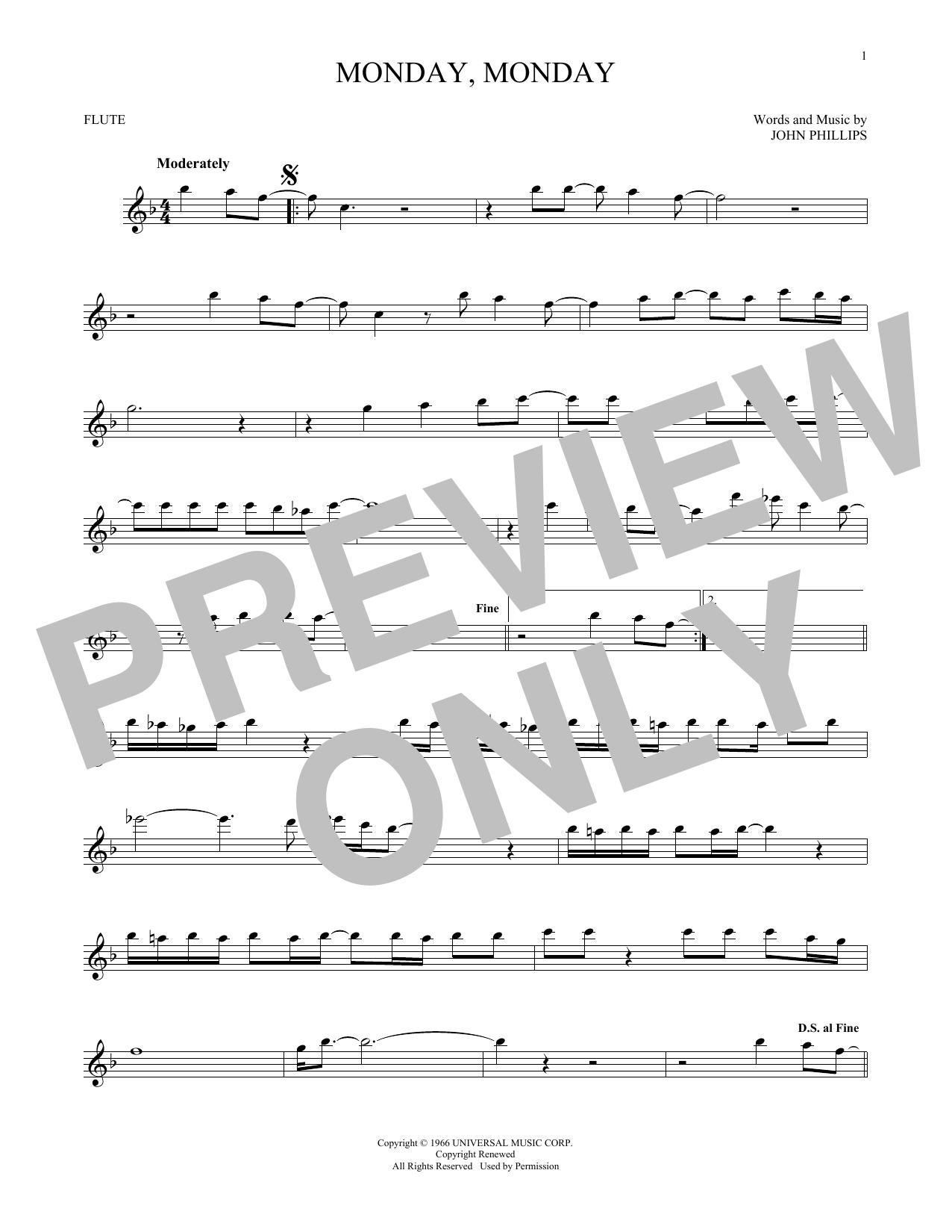 Monday, Monday (Flute Solo)
