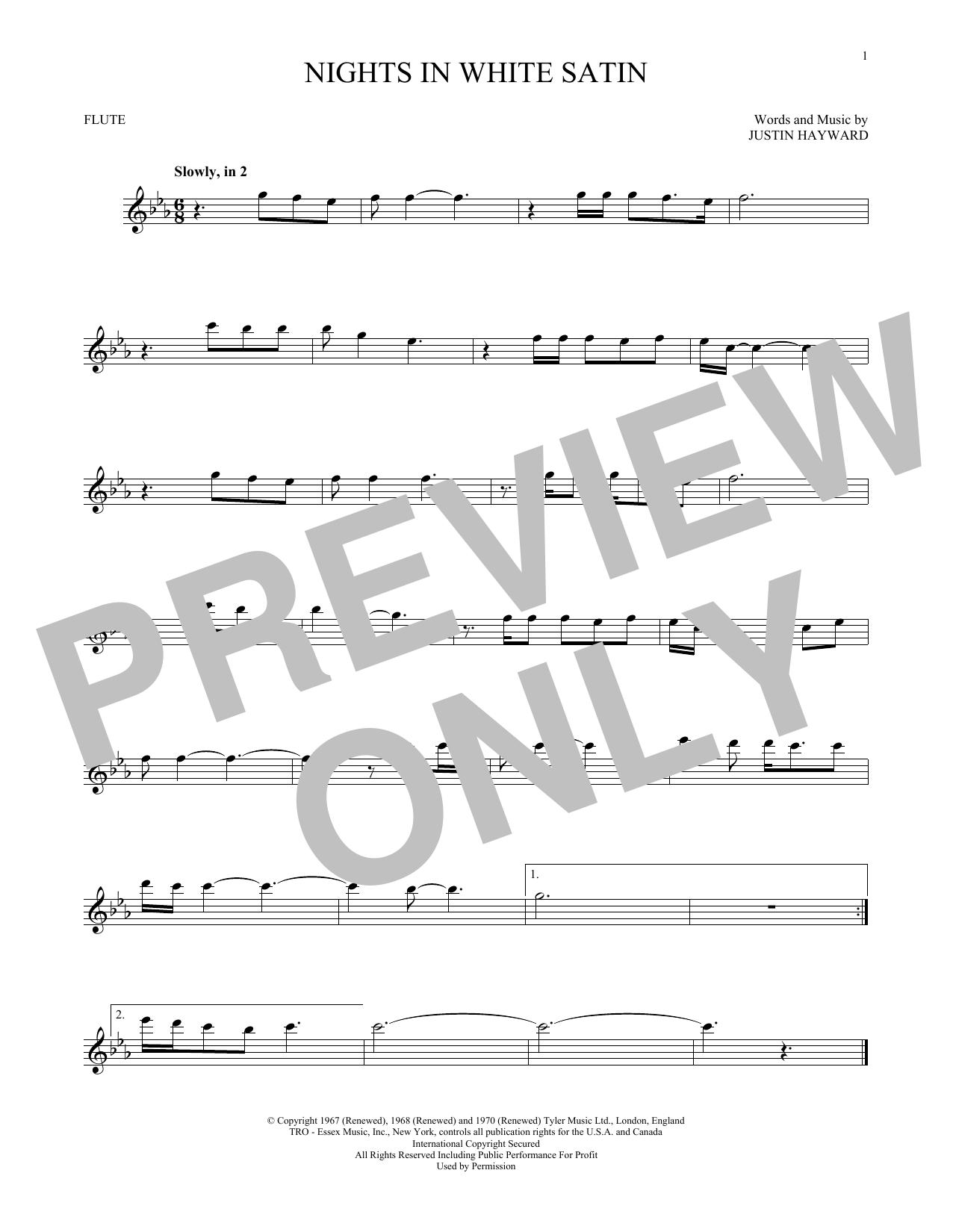 Nights In White Satin (Flute Solo)