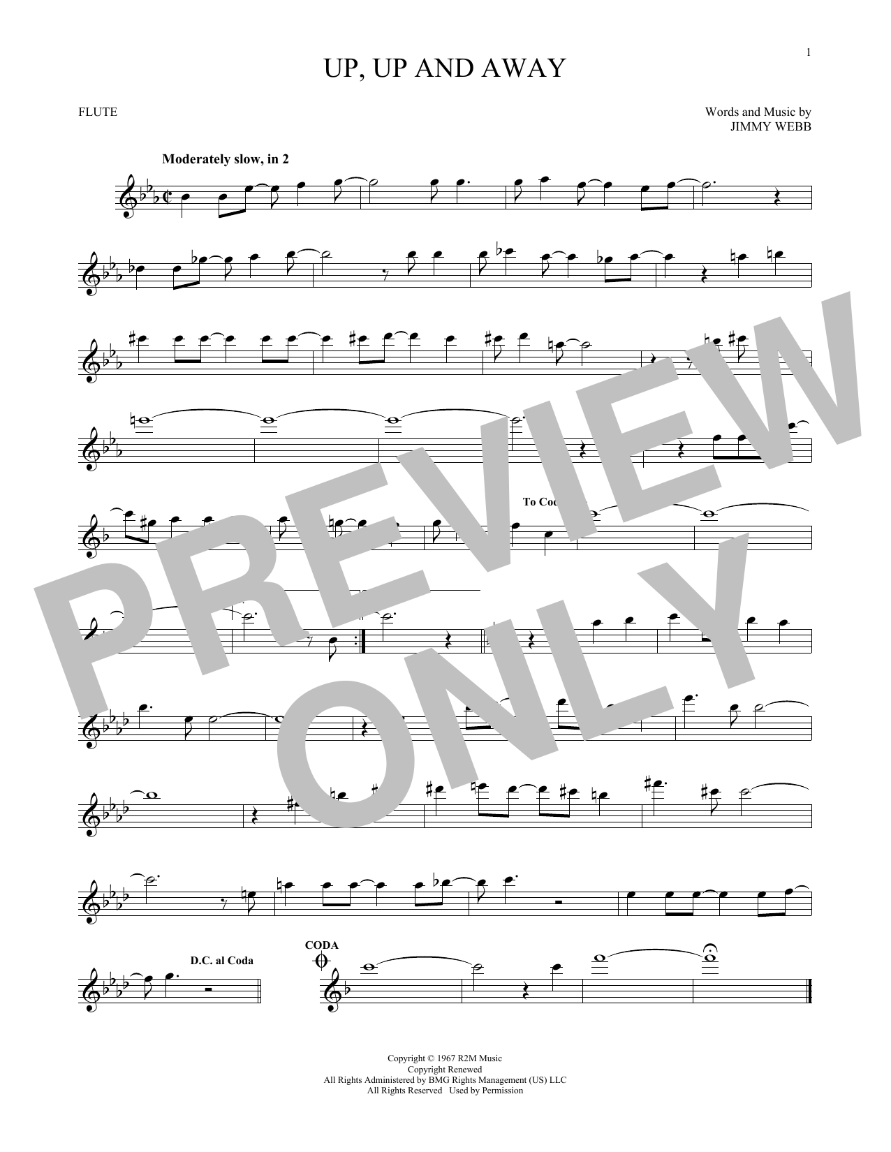Up, Up And Away (Flute Solo)