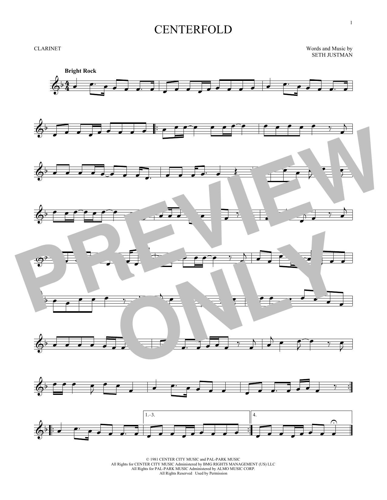 Centerfold (Clarinet Solo)