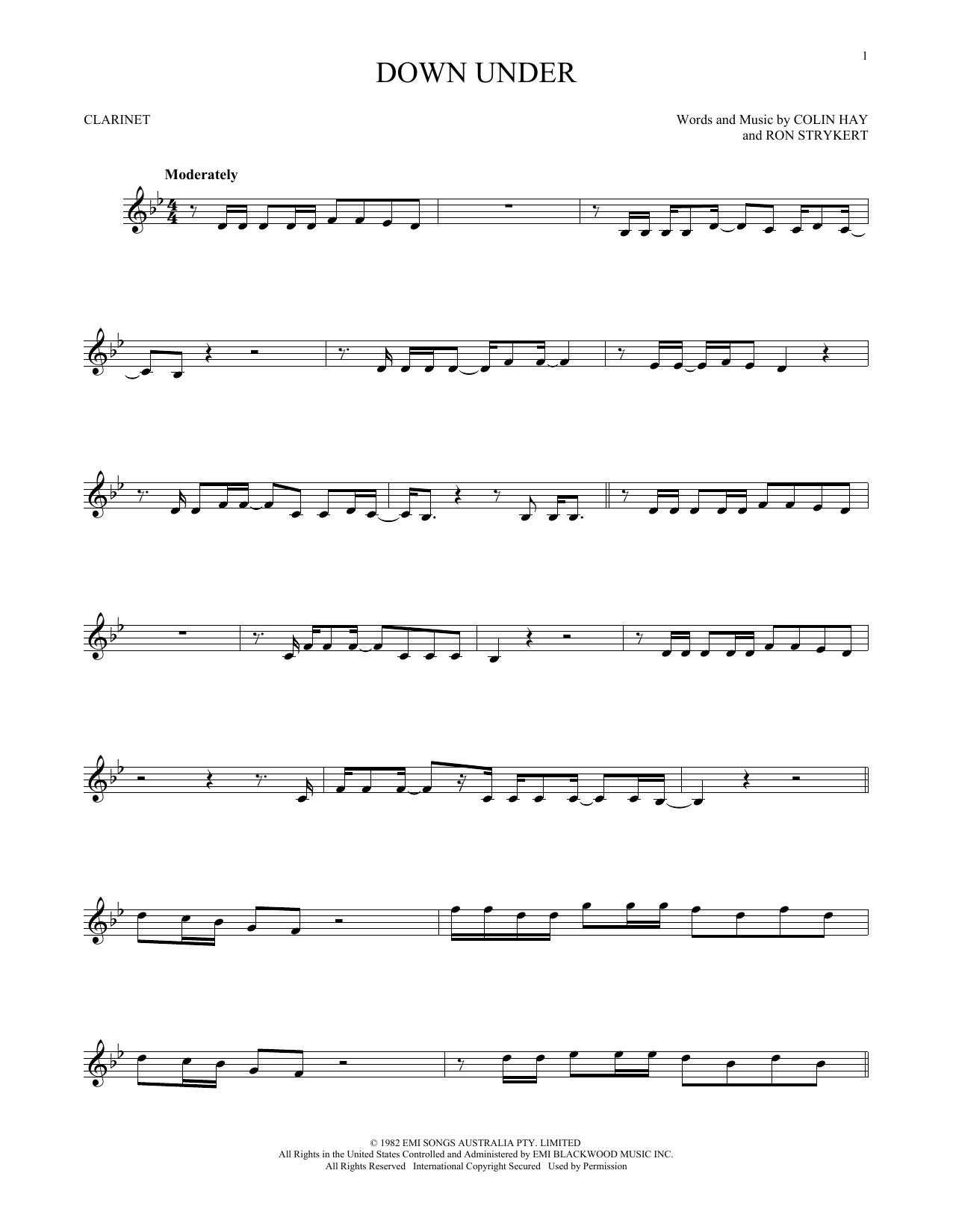 Down Under (Clarinet Solo)