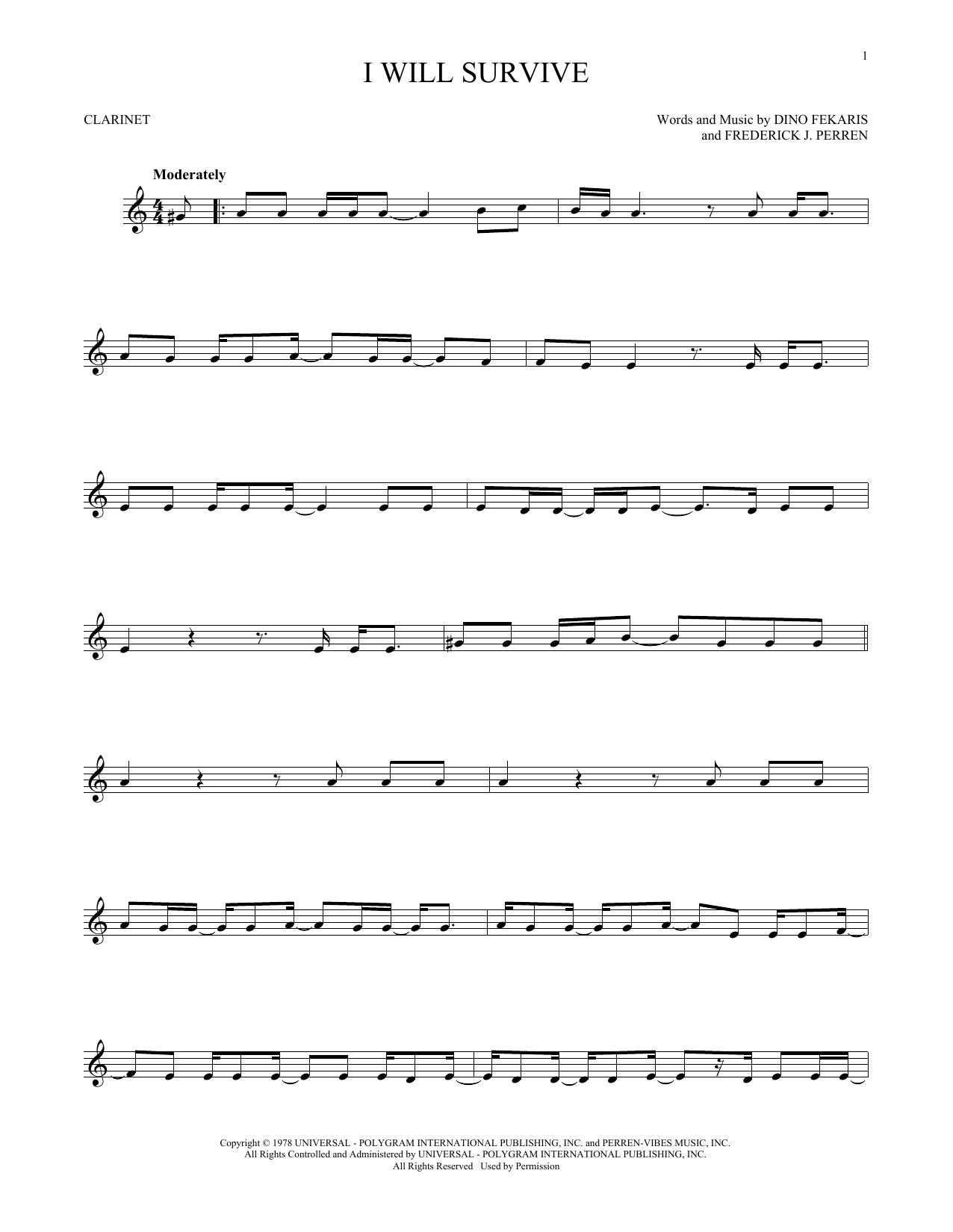 I Will Survive (Clarinet Solo)