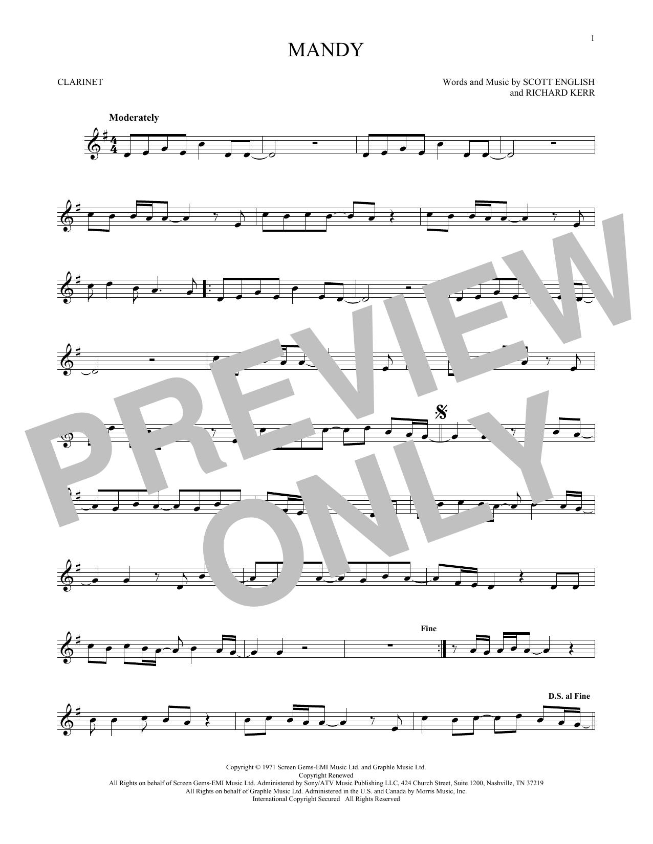 Mandy (Clarinet Solo)