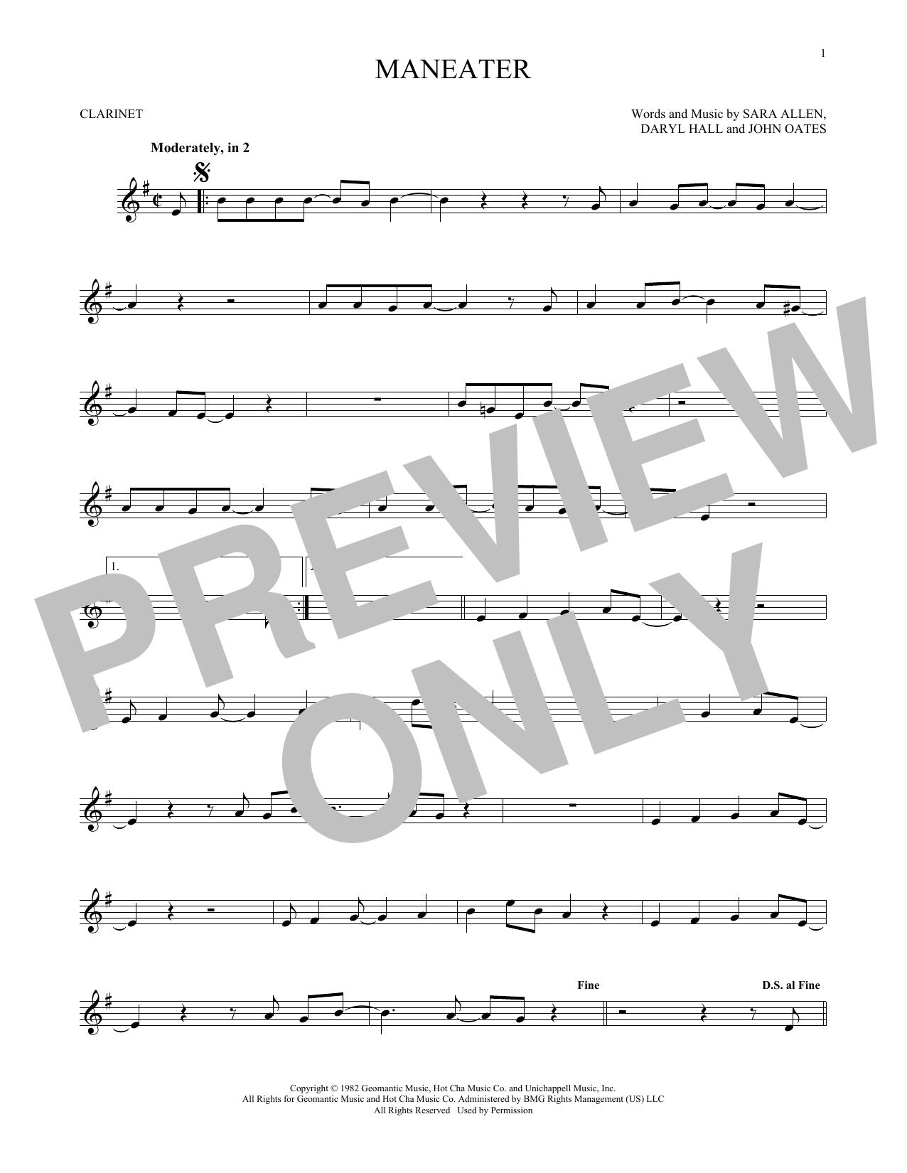 Maneater (Clarinet)
