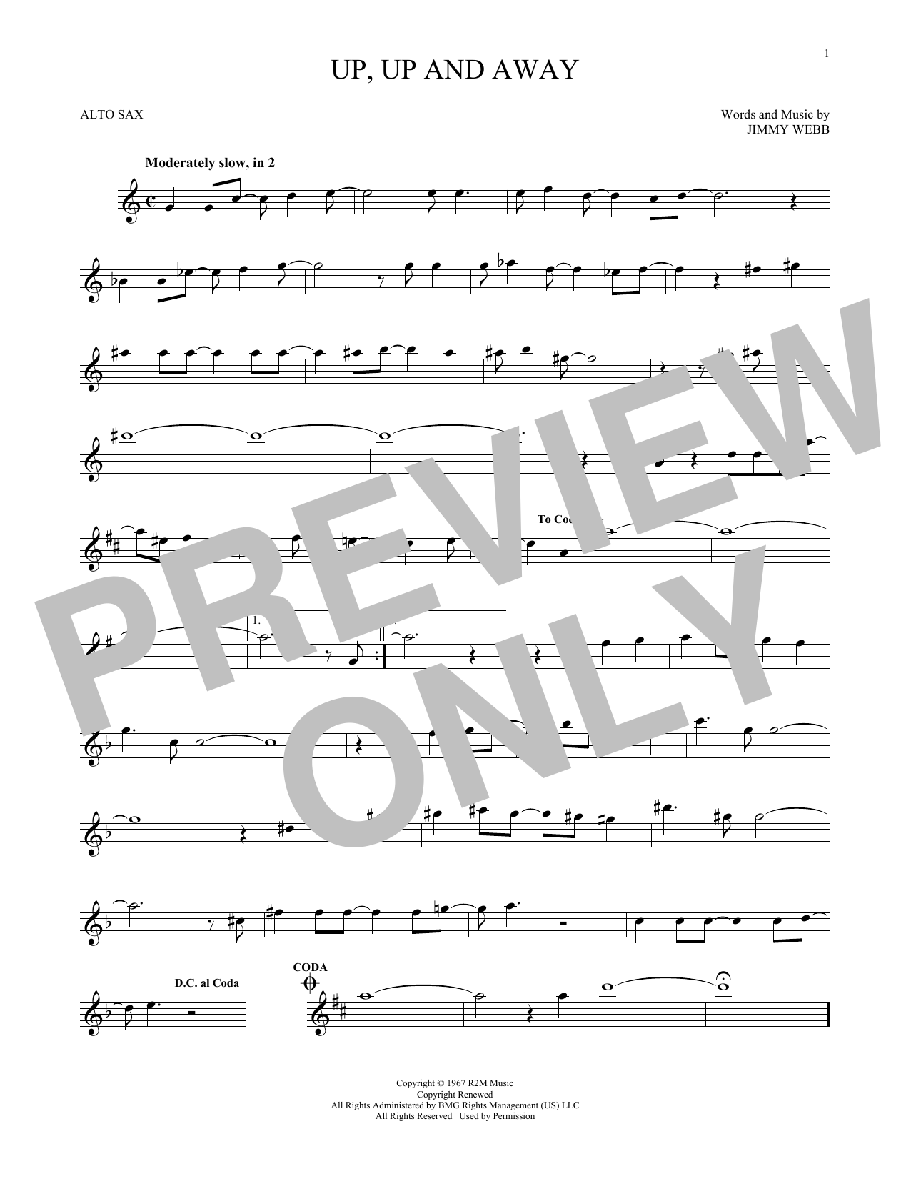 Up, Up And Away (Alto Sax Solo)