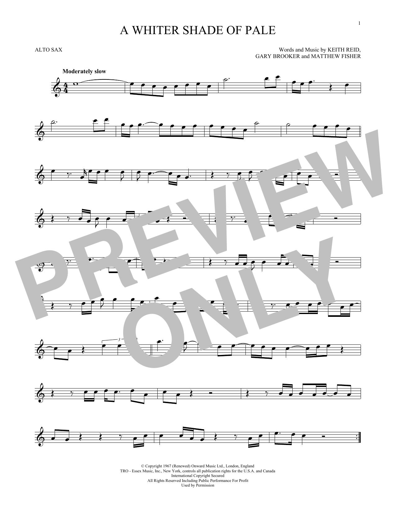 A Whiter Shade Of Pale (Alto Sax Solo)