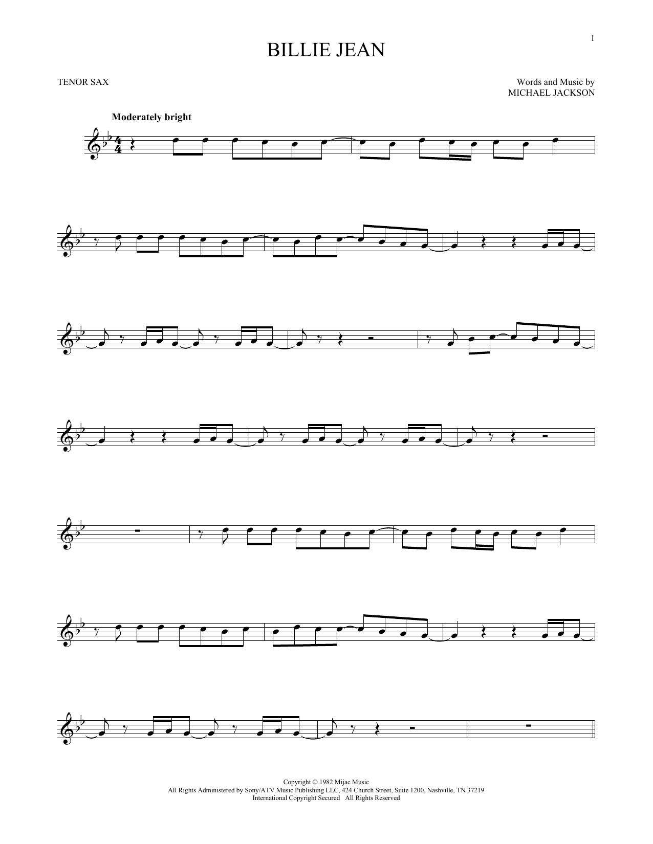 Billie Jean (Tenor Sax Solo)