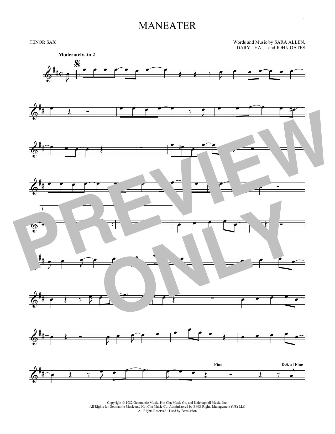Maneater (Tenor Sax Solo)