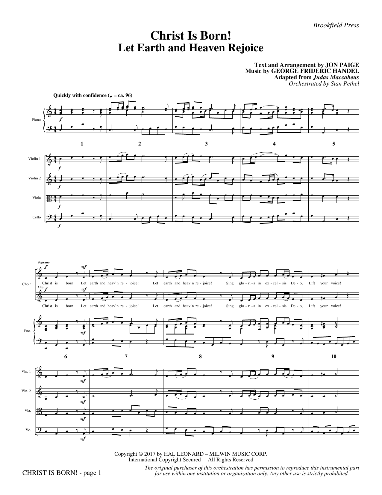 Christ Is Born! (COMPLETE) sheet music for orchestra/band by Jon Paige. Score Image Preview.