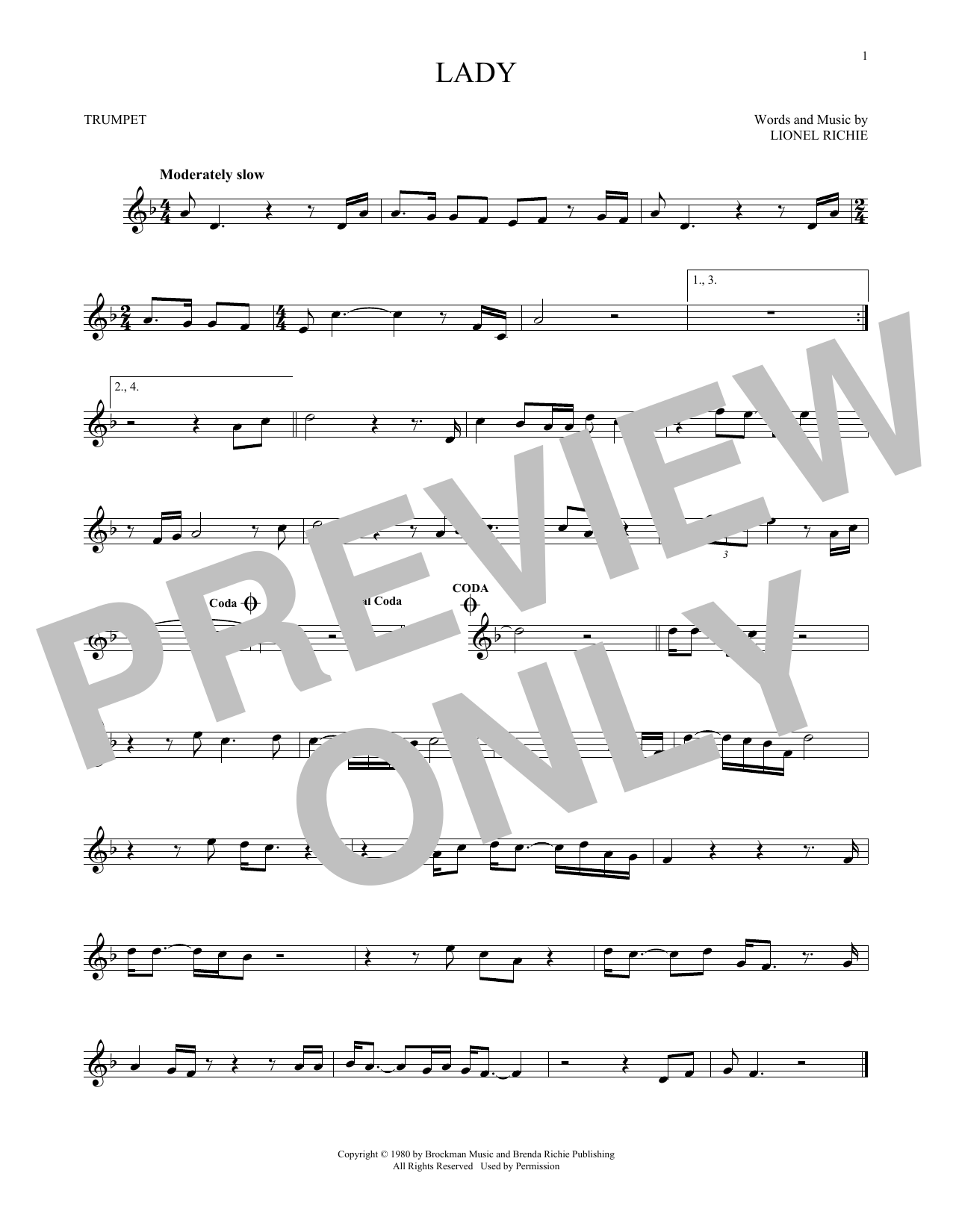 Lady (Trumpet Solo)