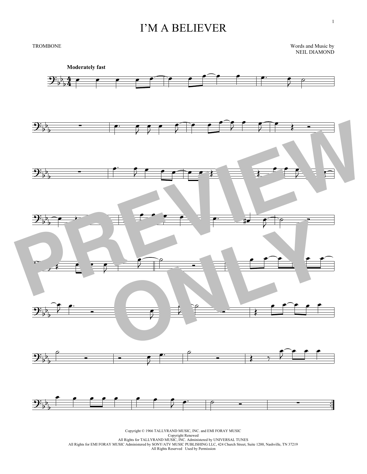 I'm A Believer (Trombone Solo)