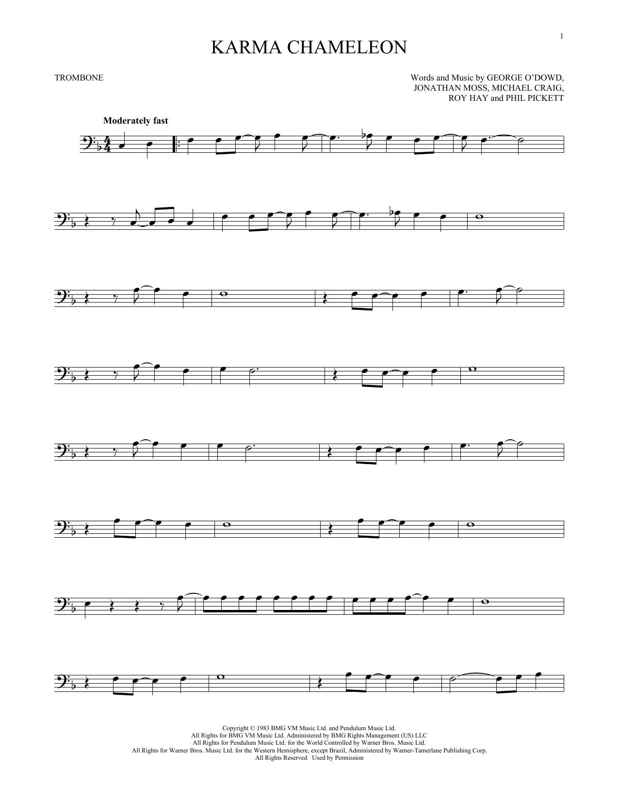 Karma Chameleon (Trombone Solo)