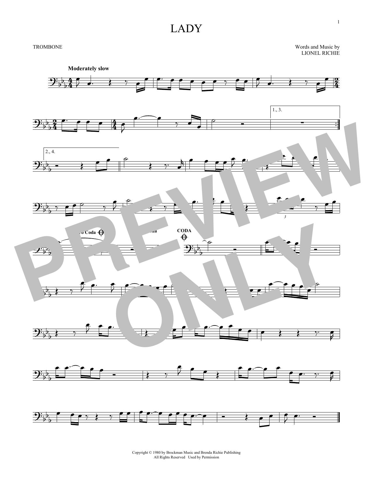 Lady (Trombone Solo)