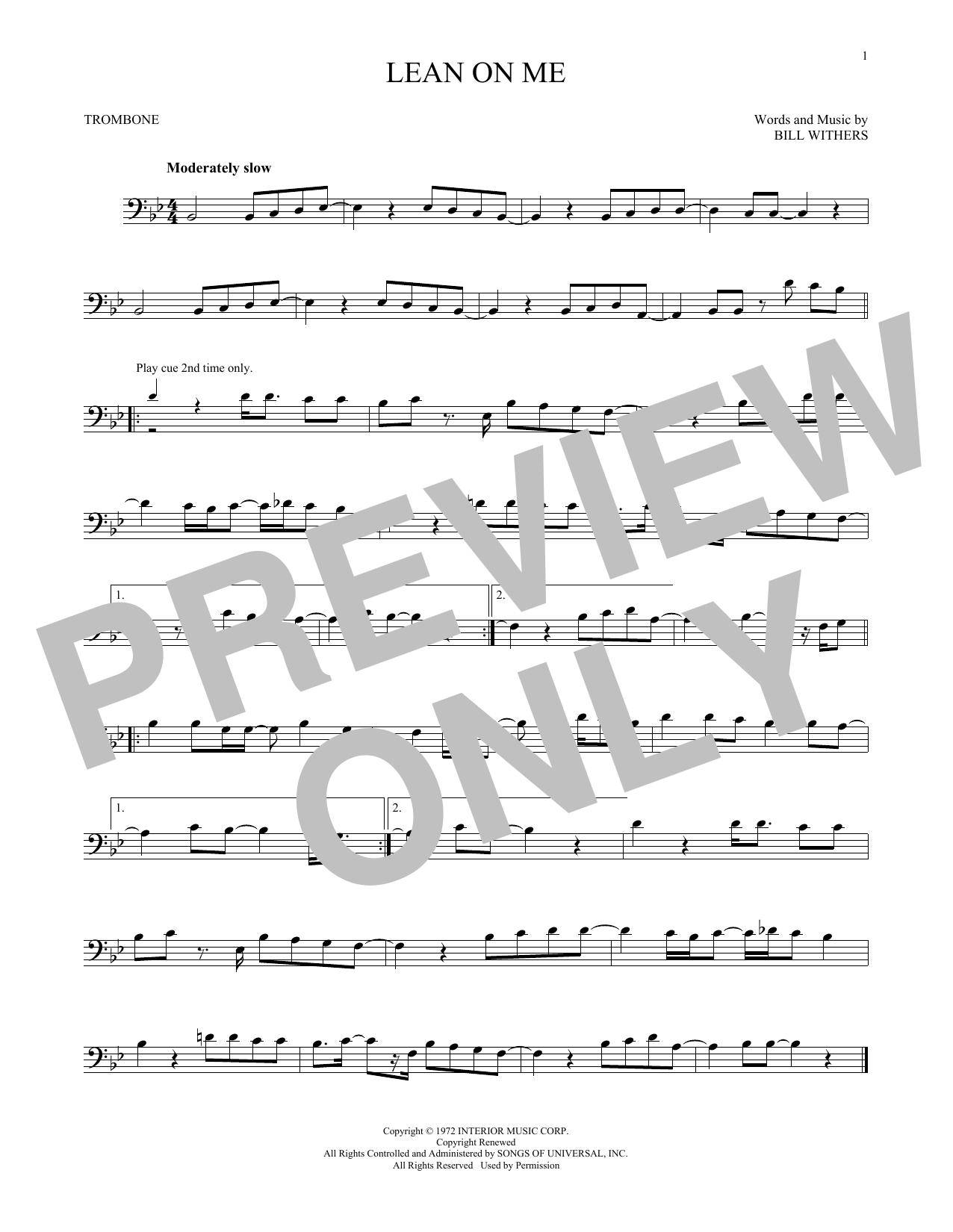 Lean On Me (Trombone Solo)